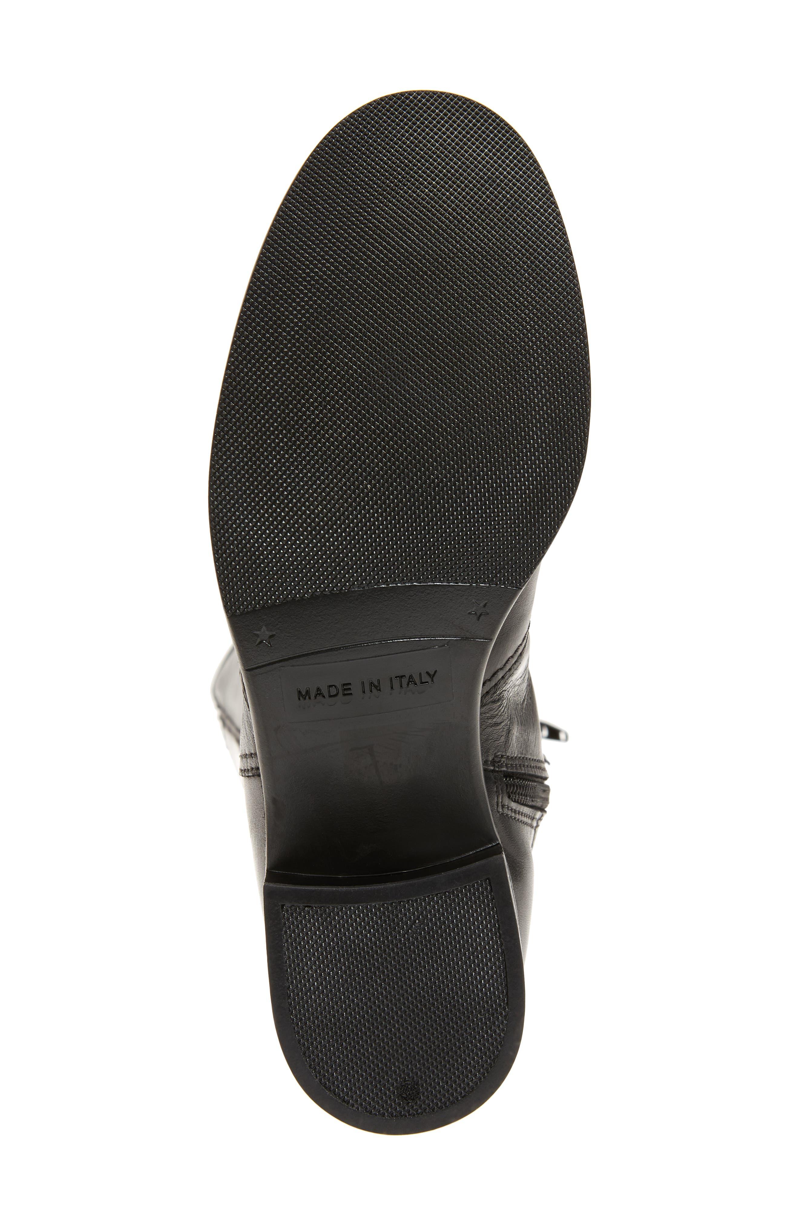 DAVID TATE, Portofino Boot, Alternate thumbnail 6, color, BLACK LEATHER