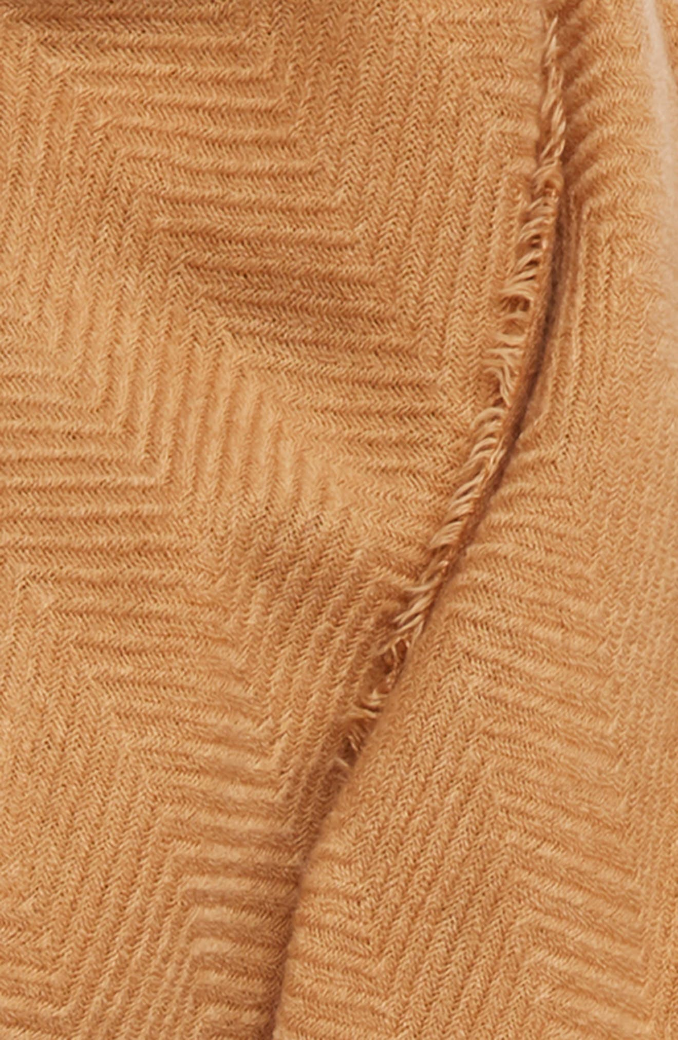 SOLE SOCIETY, Oversize Blanket Scarf, Alternate thumbnail 3, color, CAMEL