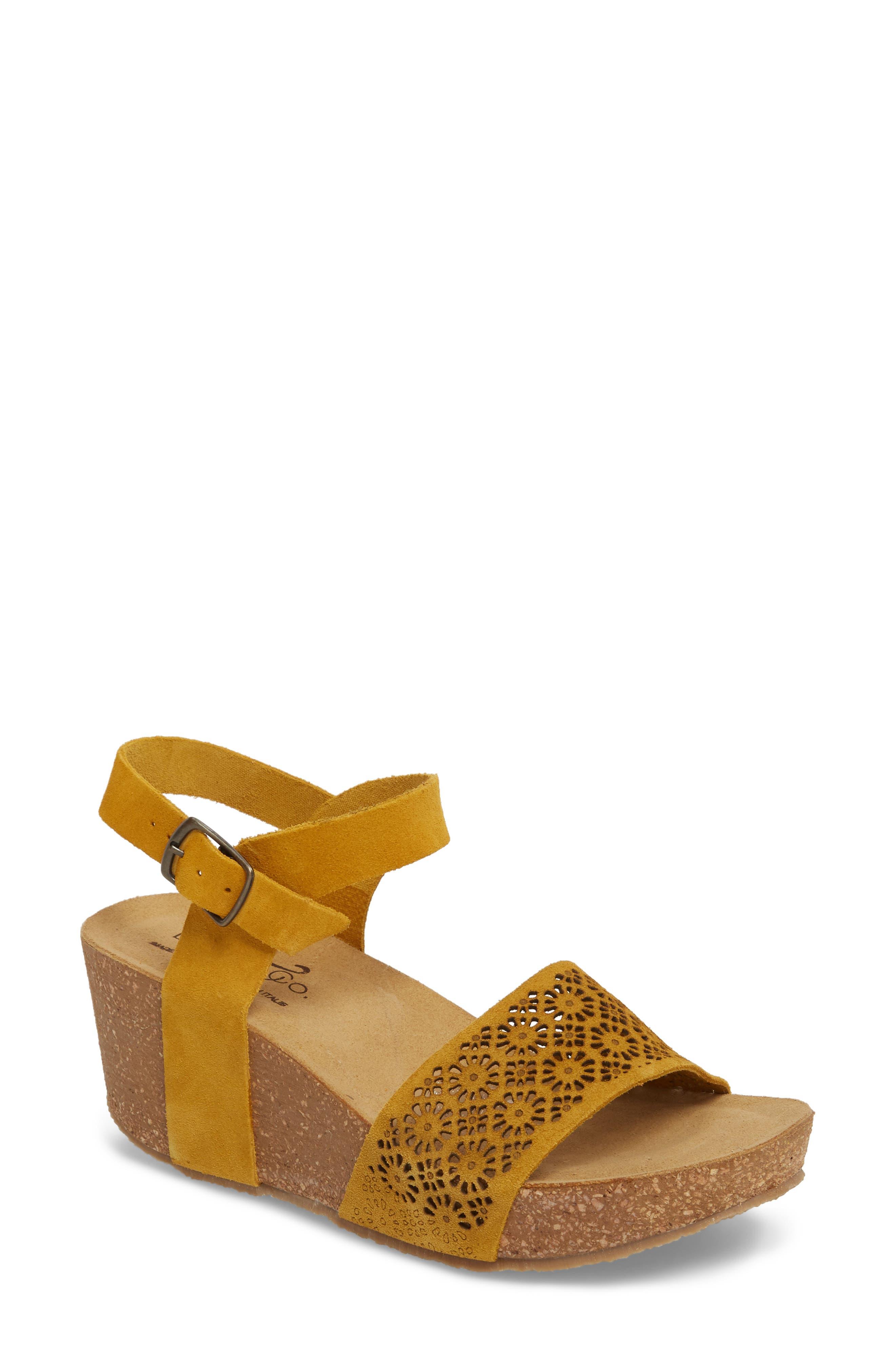 Bos. & Co. Lolo Platform Wedge Sandal, Yellow