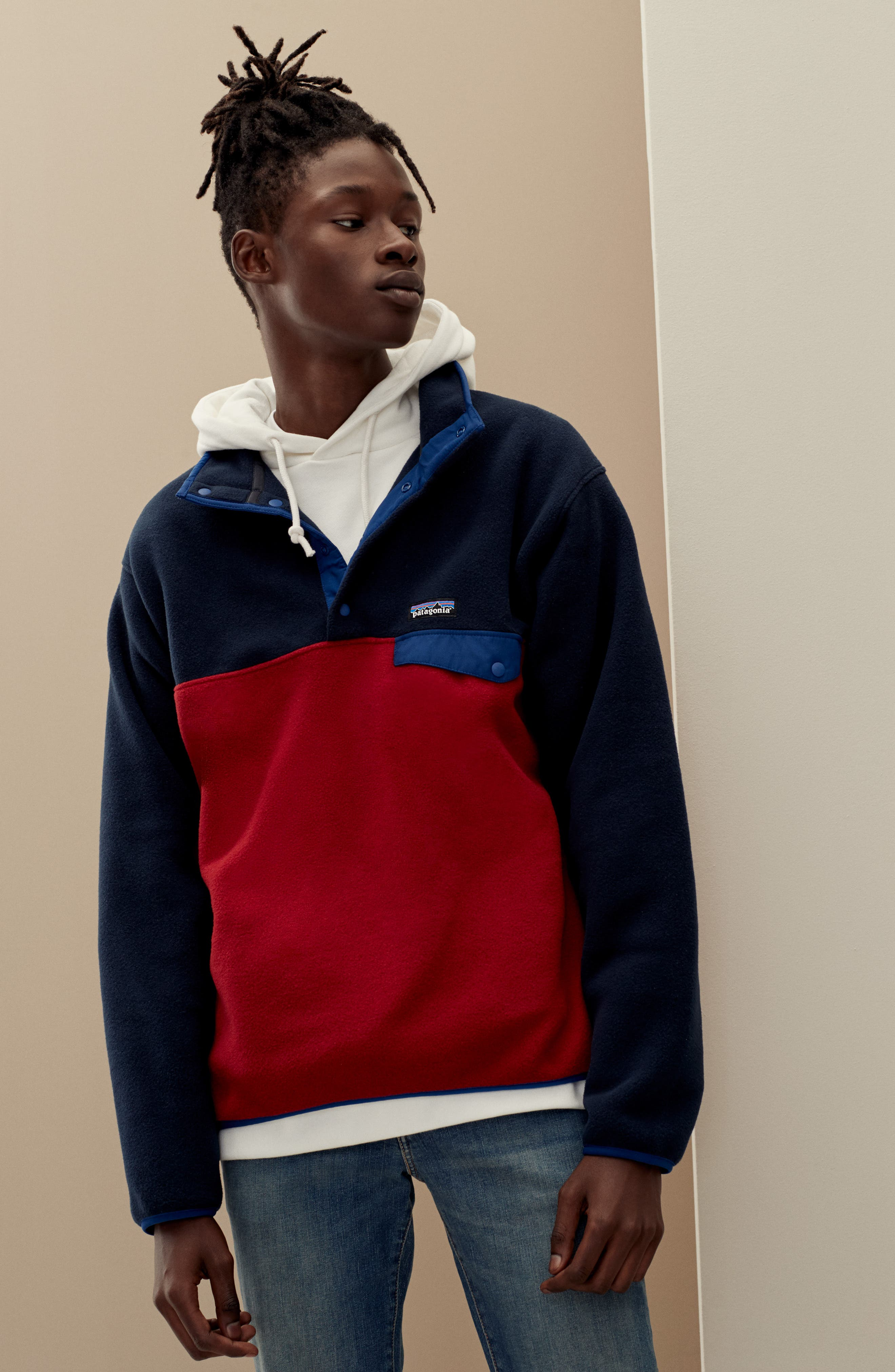 PATAGONIA, Synchilla<sup>®</sup> Snap-T<sup>®</sup> Fleece Pullover, Alternate thumbnail 2, color, 100