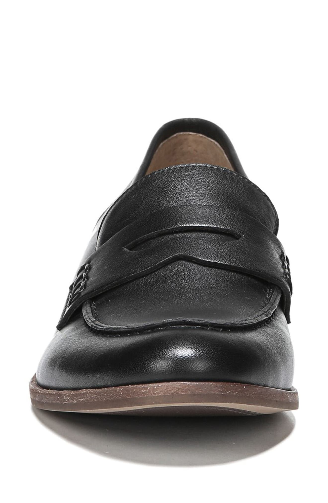 SARTO BY FRANCO SARTO, 'Jolette' Penny Loafer, Alternate thumbnail 4, color, BLACK LEATHER
