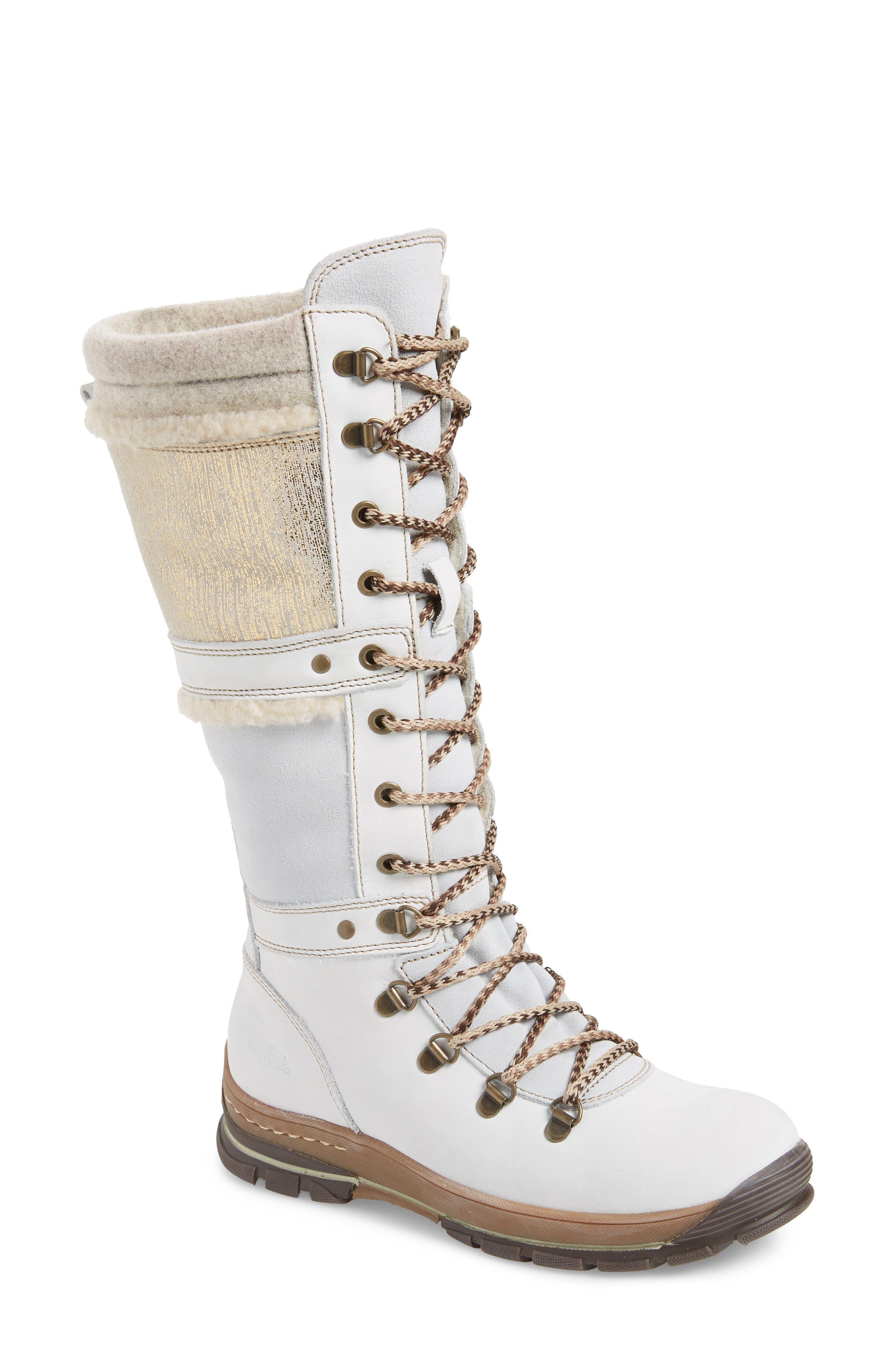 Bos. & Co. Gabriella Waterproof Boot, White