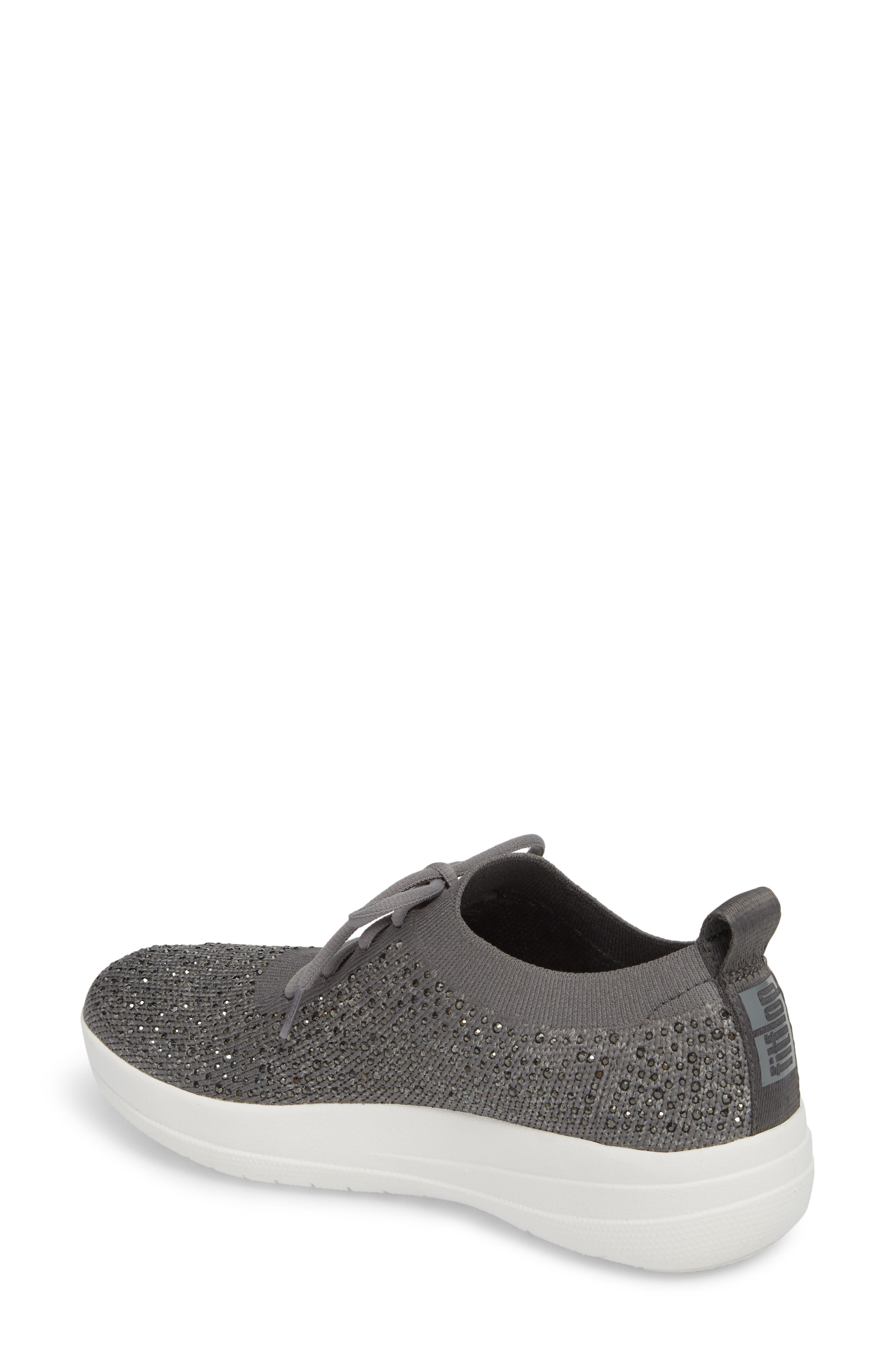 FITFLOP, Uberknit<sup>™</sup> F-Sporty Sneaker, Alternate thumbnail 2, color, CHARCOAL/ DUSTY GREY