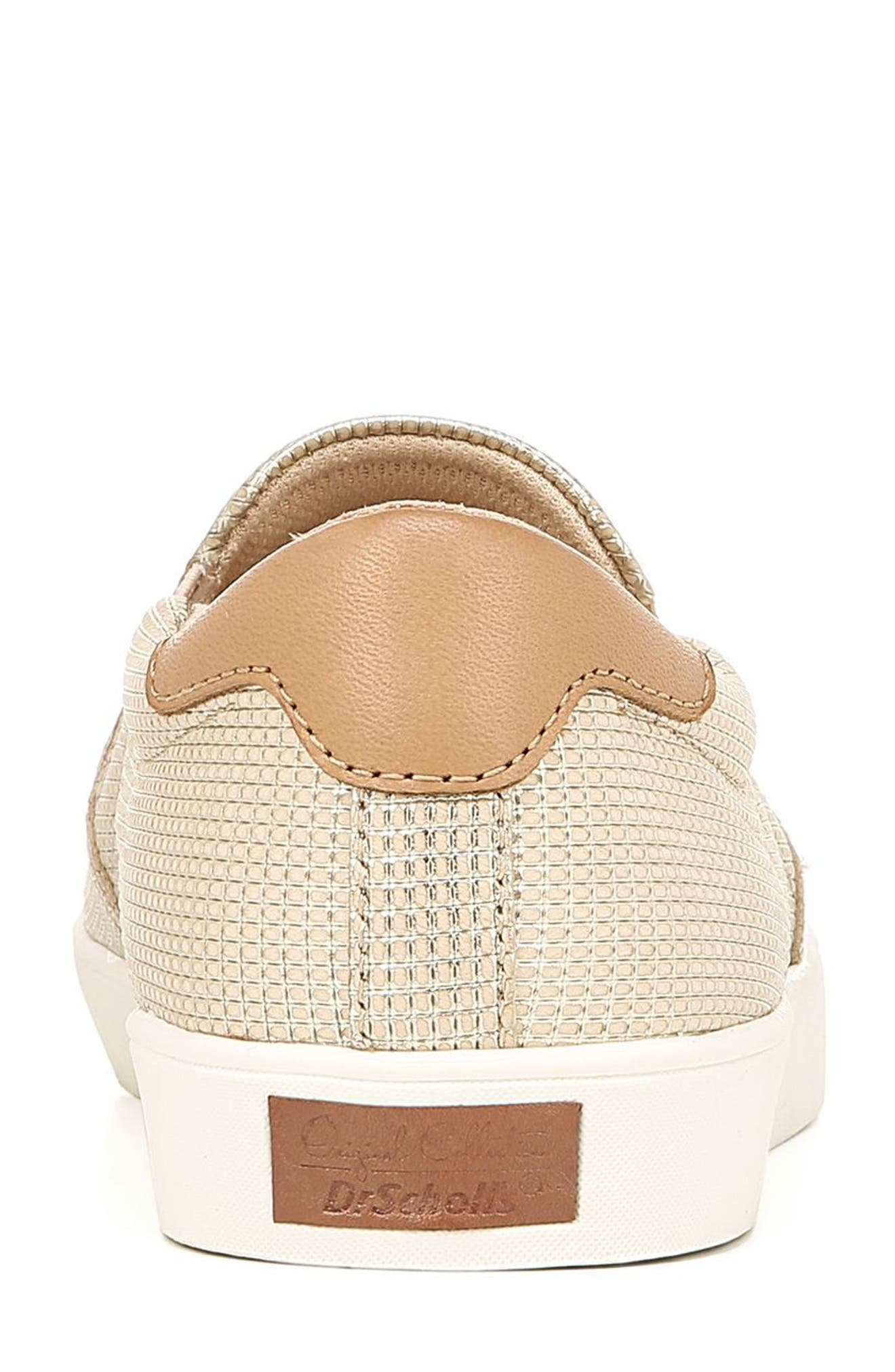 DR. SCHOLL'S, Original Collection 'Scout' Slip On Sneaker, Alternate thumbnail 7, color, BEIGE LEATHER