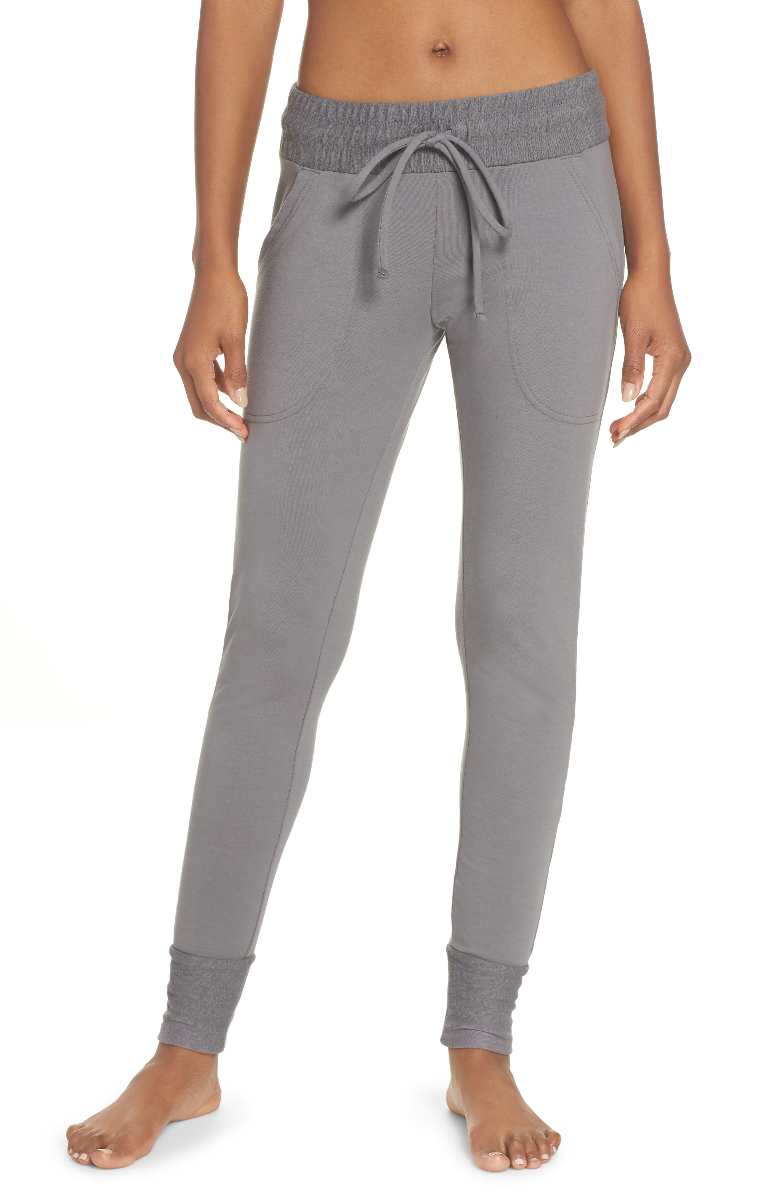 FREE PEOPLE MOVEMENT, Sunny Skinny Sweatpants, Main thumbnail 1, color, DARK GREY