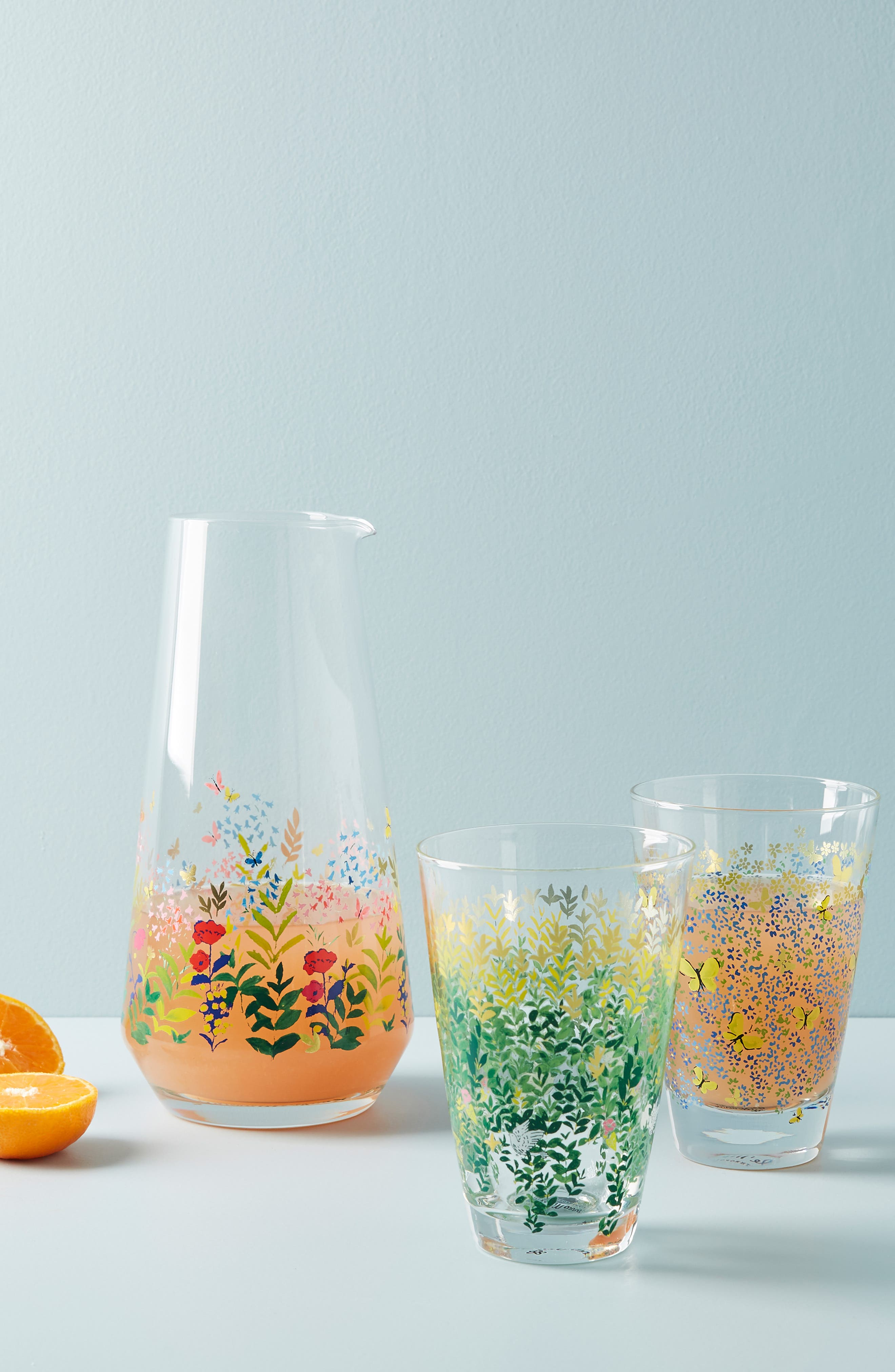 ANTHROPOLOGIE, Paule Marrot Juice Glass, Alternate thumbnail 2, color, CLEAR - LEAVES