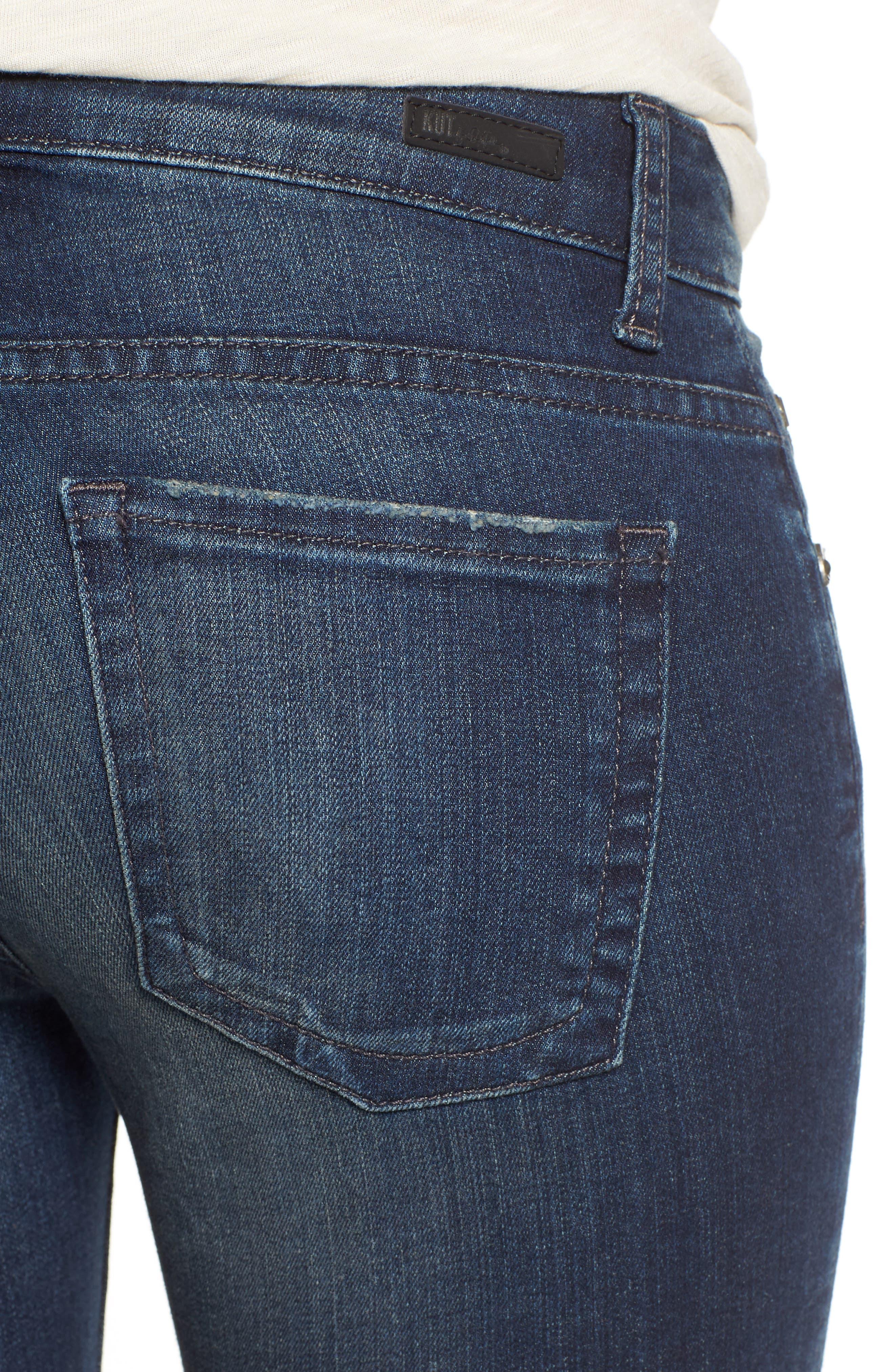 KUT FROM THE KLOTH, 'Catherine' Slim Boyfriend Jeans, Alternate thumbnail 4, color, CAREFULNESS