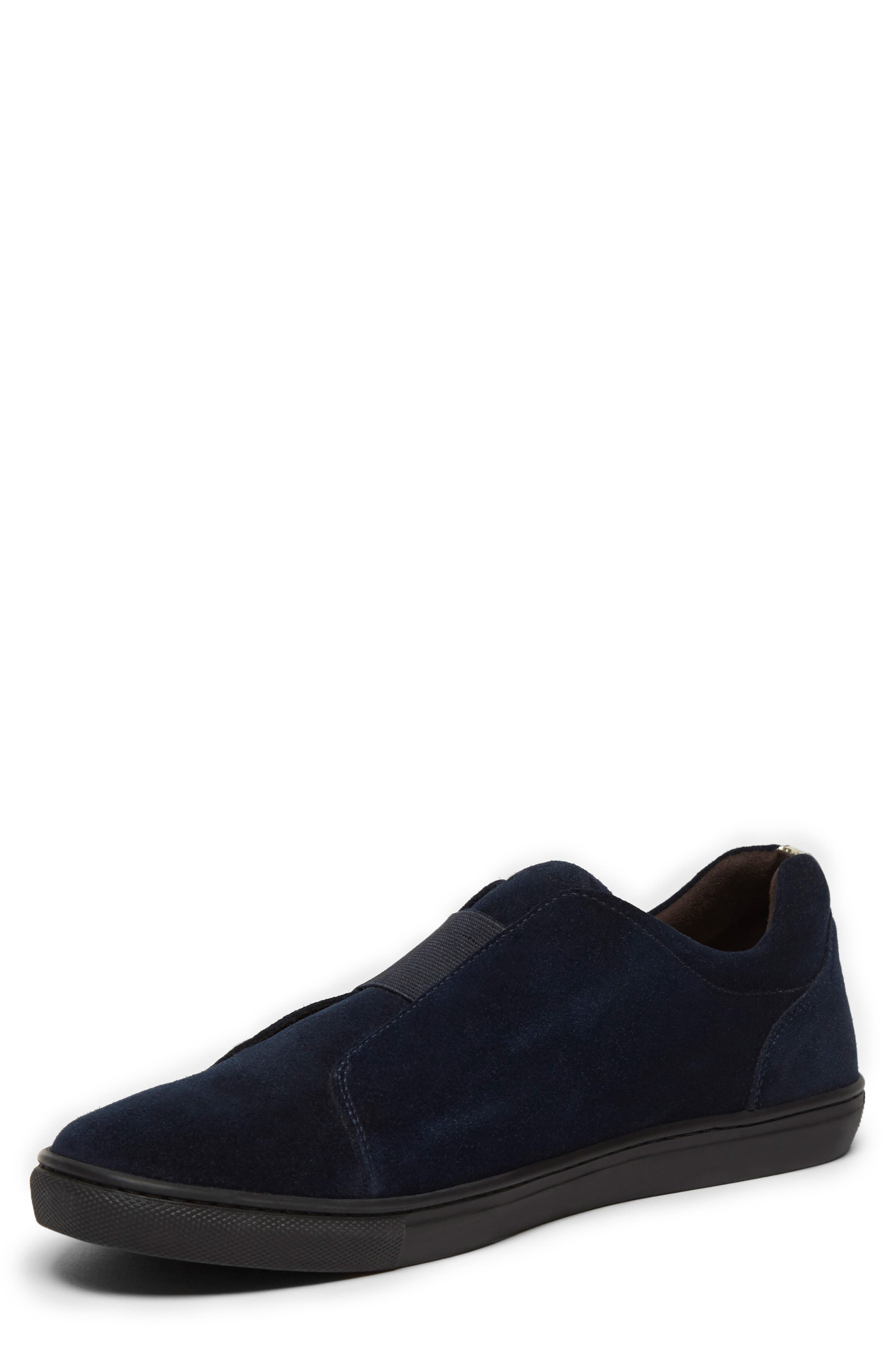 KENNETH COLE NEW YORK, Kam Slip-On, Alternate thumbnail 4, color, NAVY SUEDE
