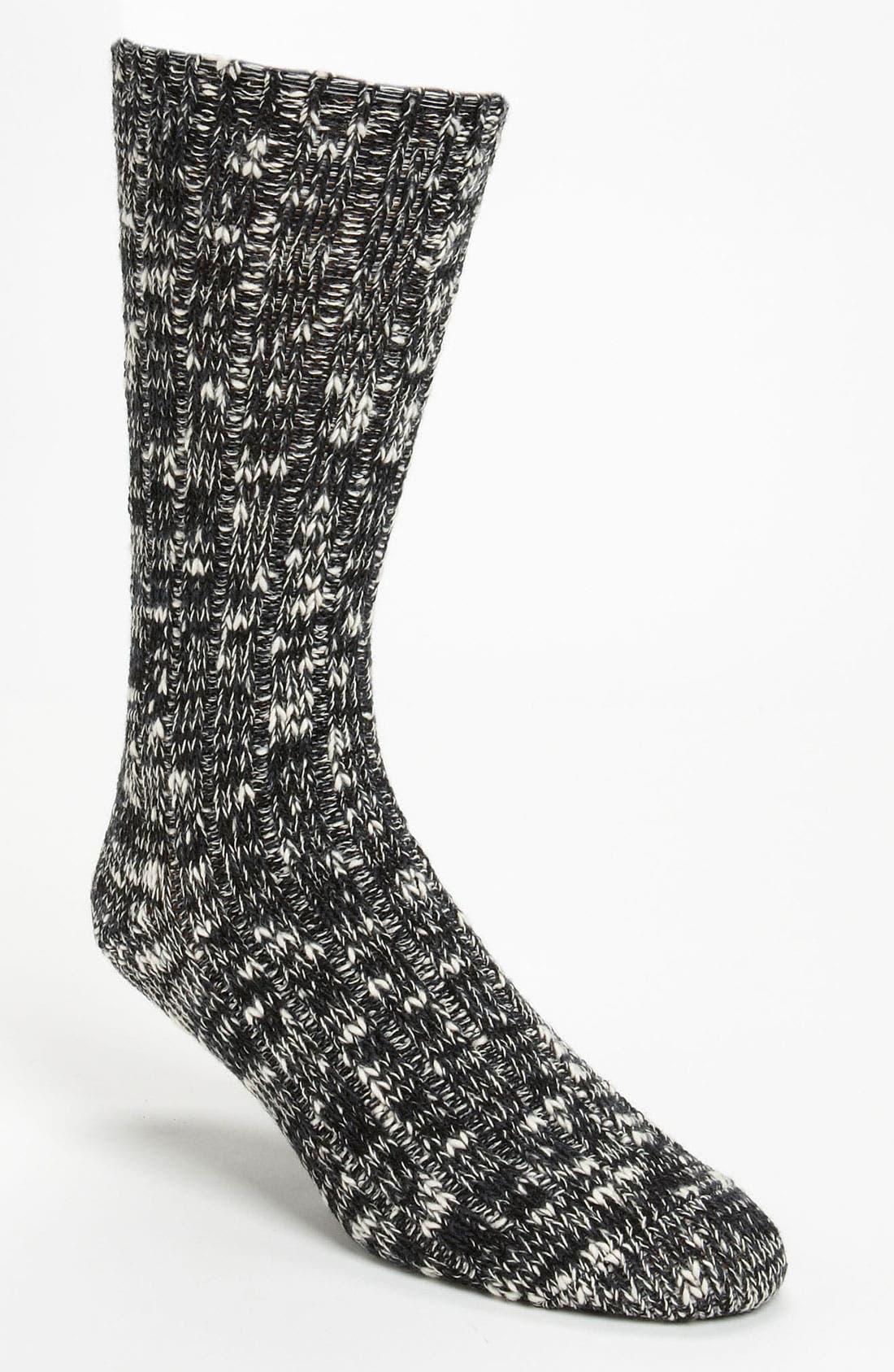 ANONYMOUS ISM, Ragg Knit Socks, Main thumbnail 1, color, 001