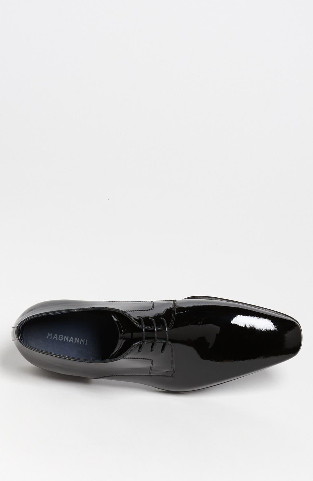 MAGNANNI, 'Dante' Plain Toe Derby, Alternate thumbnail 2, color, BLACK