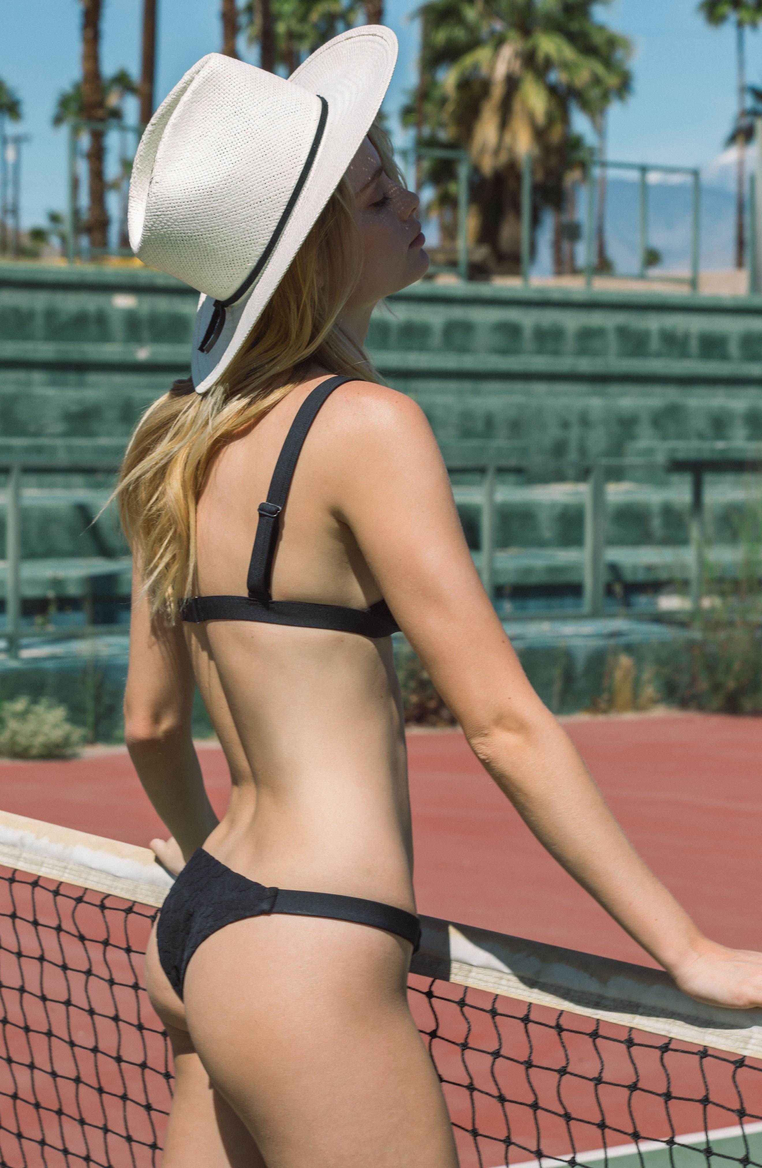 TAVIK, Heather Bikini Bottoms, Alternate thumbnail 8, color, 001