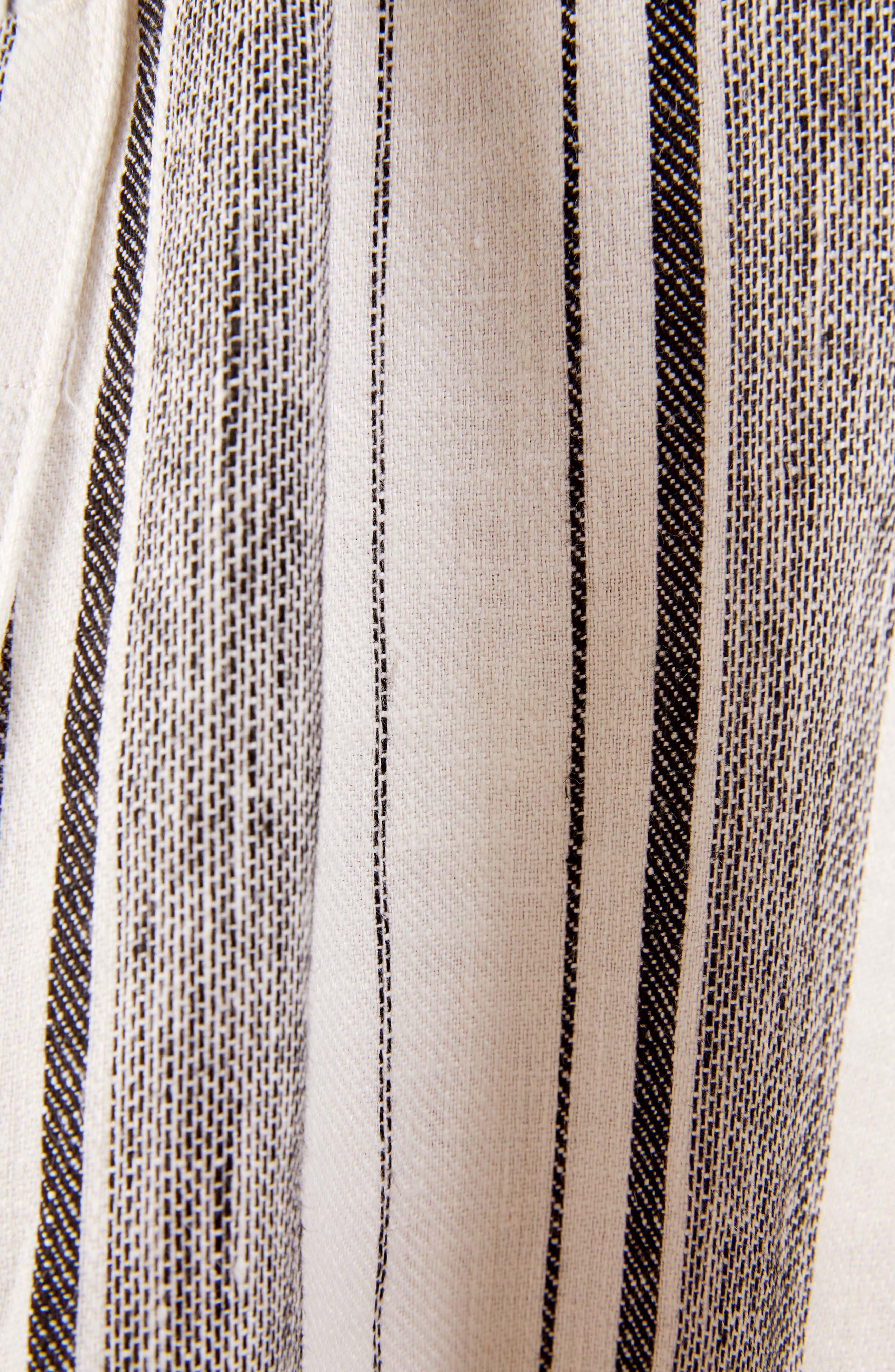 REFORMATION, Ellen Linen Midi Dress, Alternate thumbnail 5, color, 100