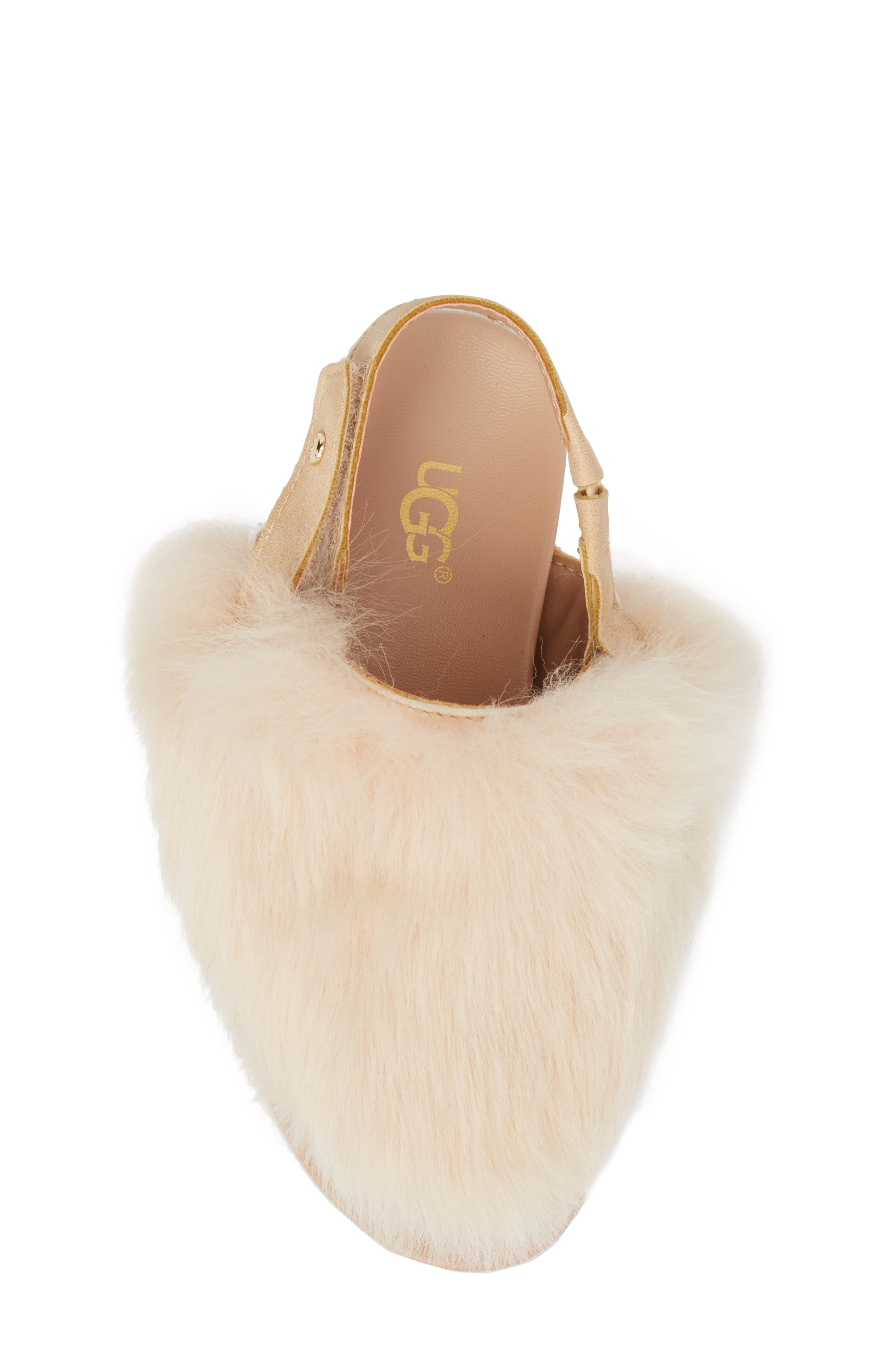 UGG<SUP>®</SUP>, Holly Genuine Shearling Sandal, Alternate thumbnail 5, color, SOFT OCHRE