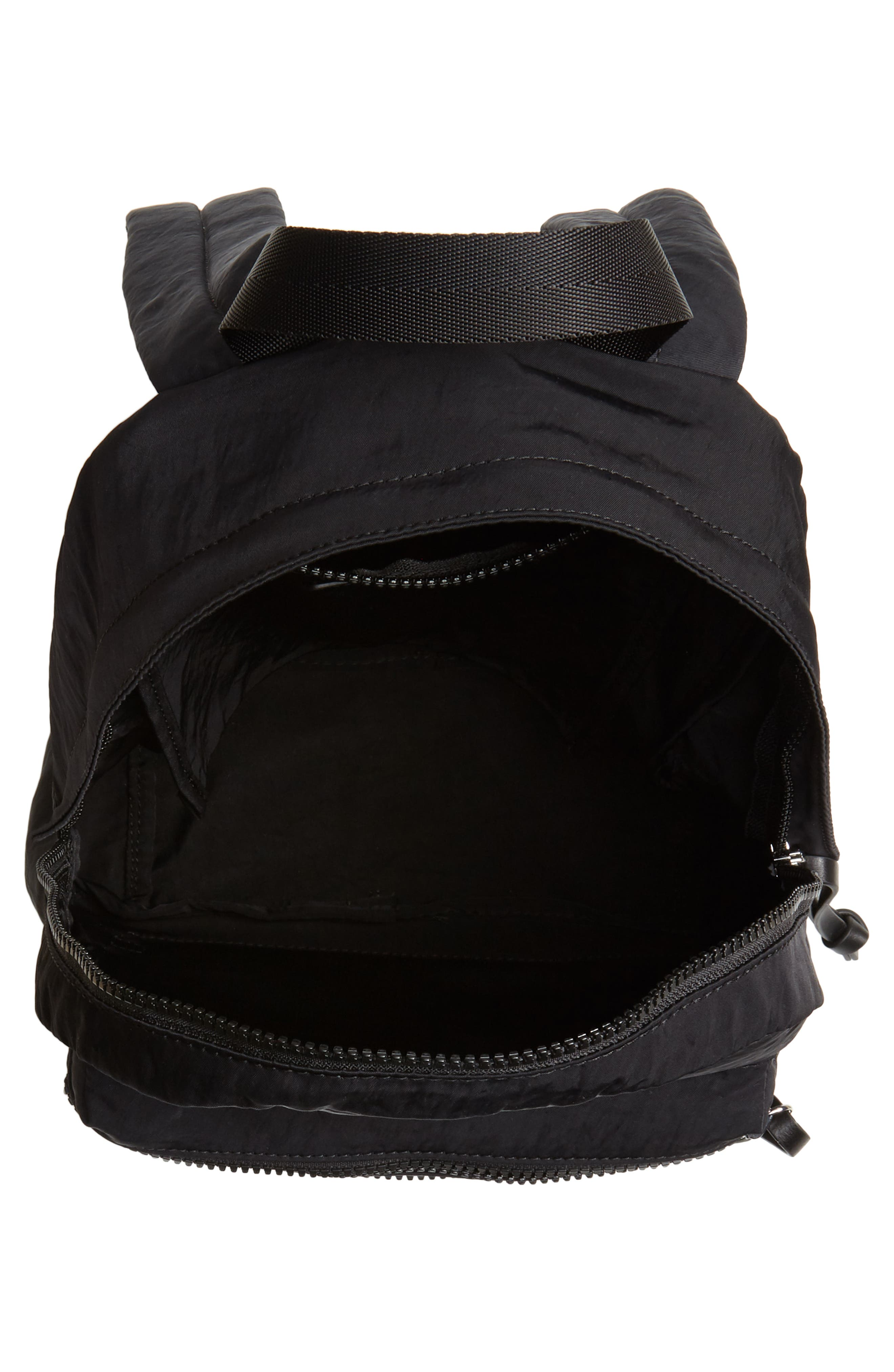 REBECCA MINKOFF, Nylon Backpack, Alternate thumbnail 5, color, BLACK
