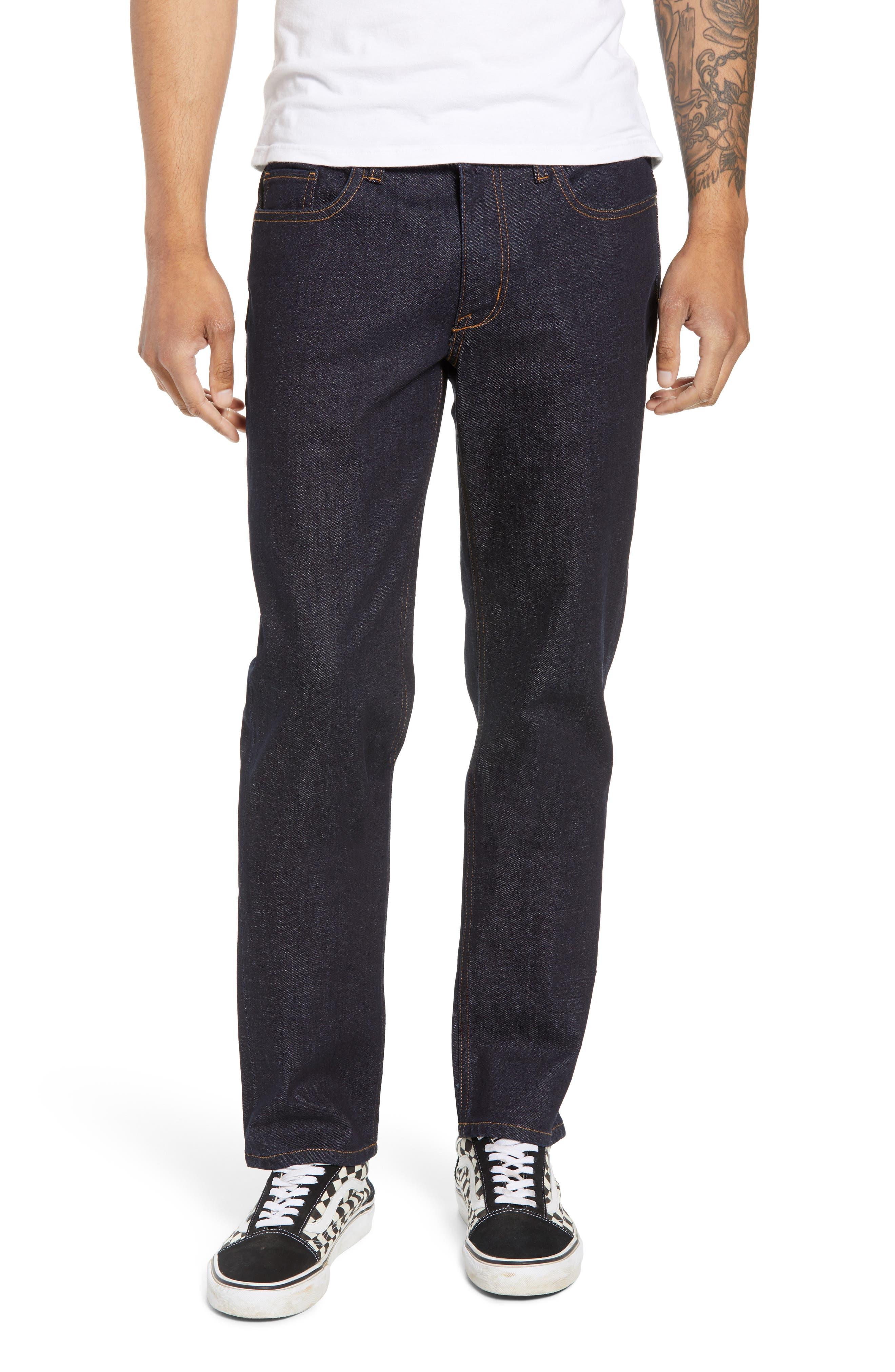 THE RAIL, Stretch Slim Leg Jeans, Main thumbnail 1, color, BLUE PERRY WASH