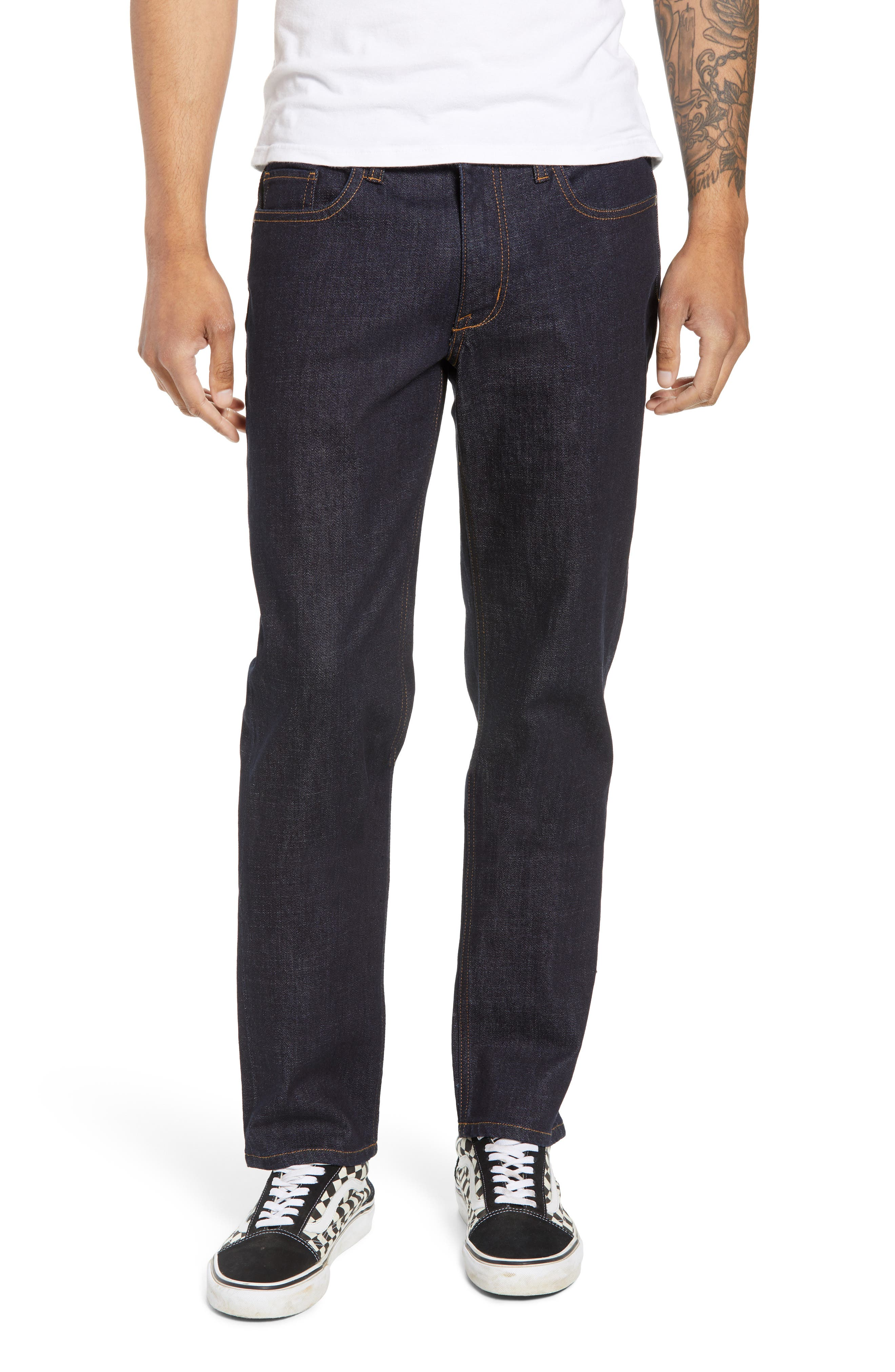 THE RAIL Stretch Slim Leg Jeans, Main, color, BLUE PERRY WASH