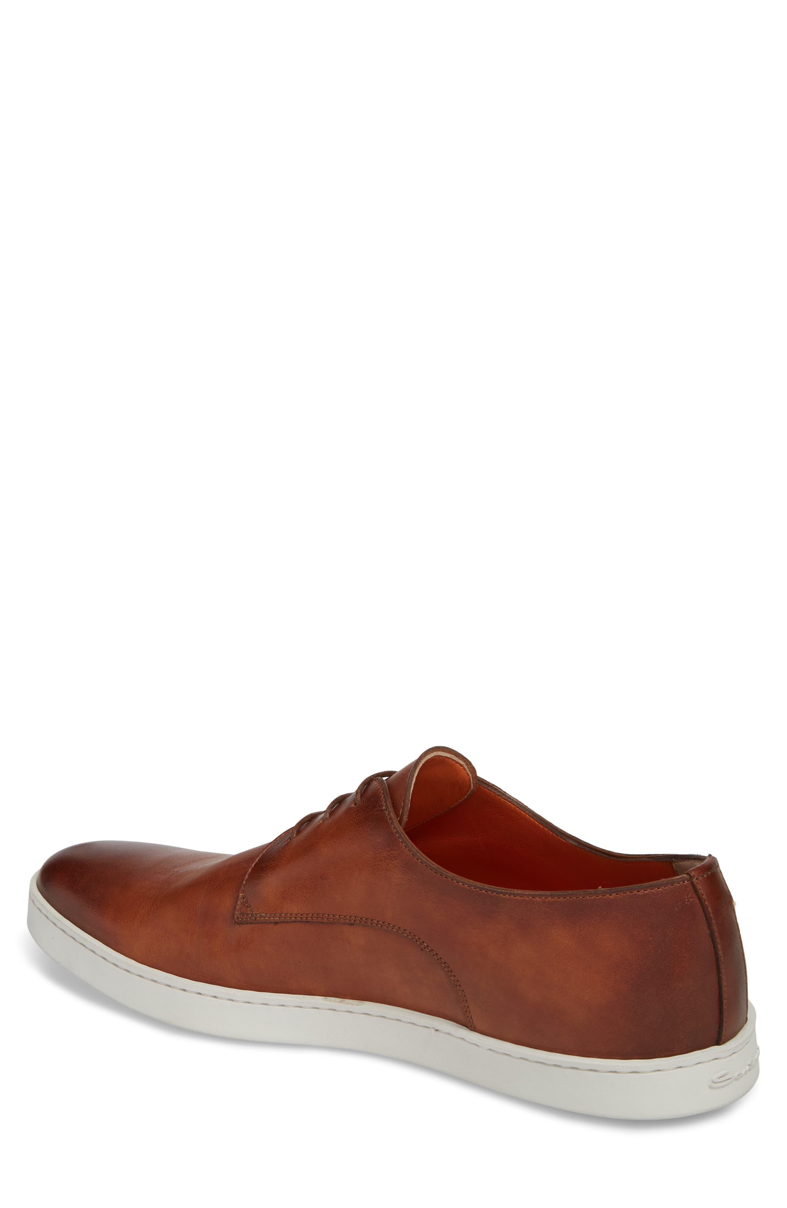 SANTONI, Doyle Plain Toe Derby Sneaker, Alternate thumbnail 2, color, TAN