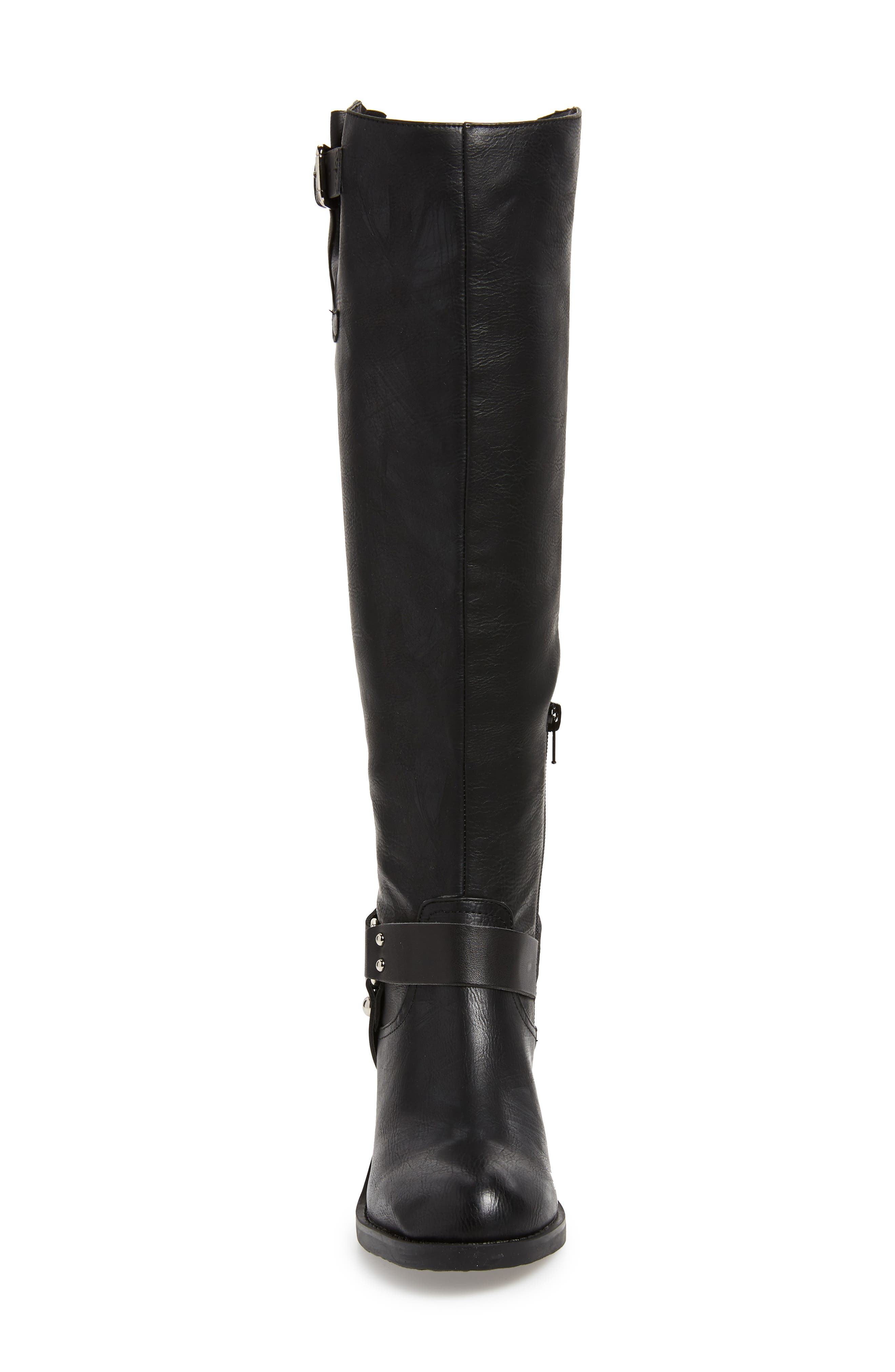 SBICCA, Dimarco Knee High Boot, Alternate thumbnail 4, color, BLACK FAUX LEATHER