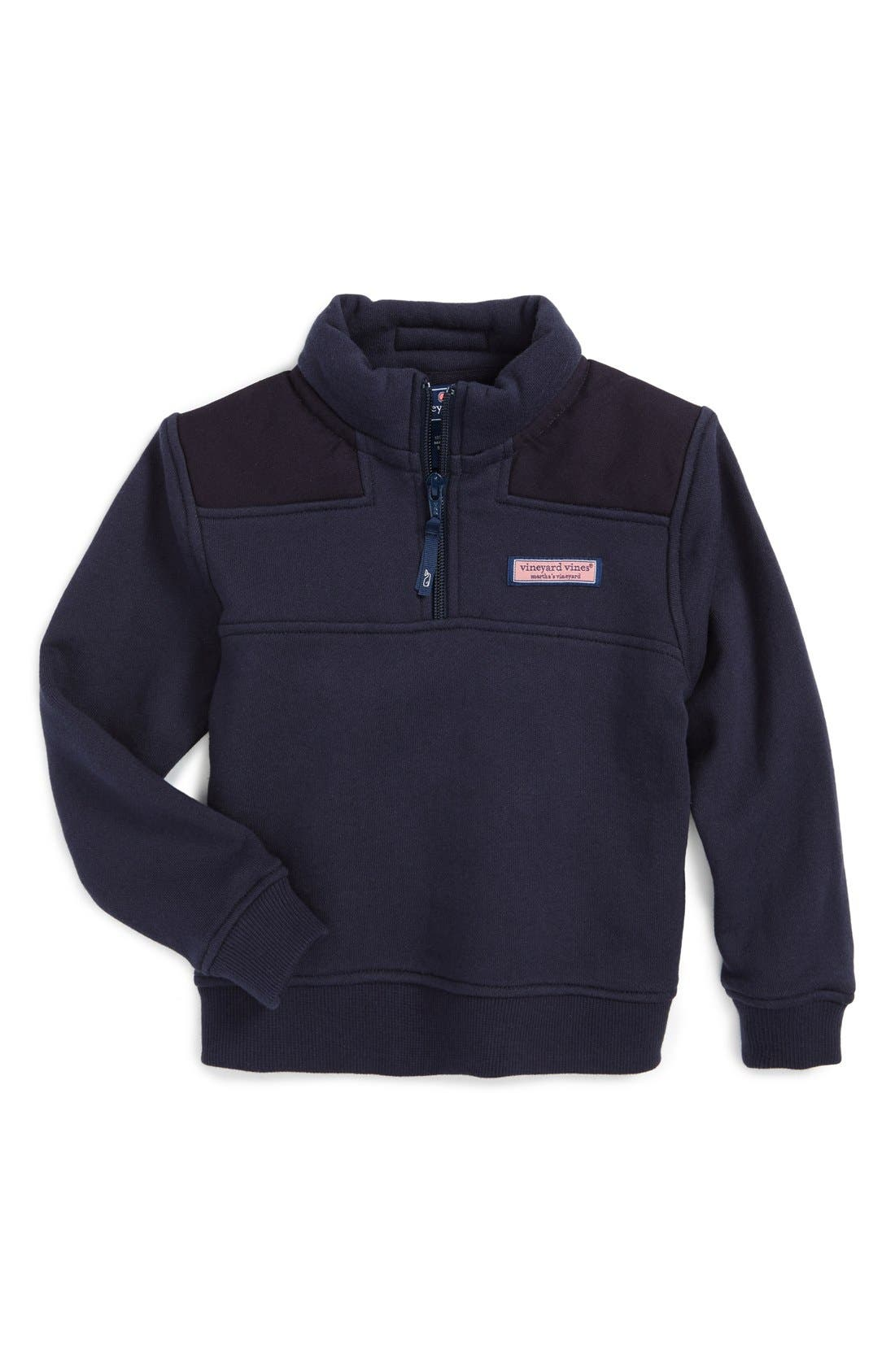 Boys Vineyard Vines Shep Quarter Zip Pullover Size 6  Blue