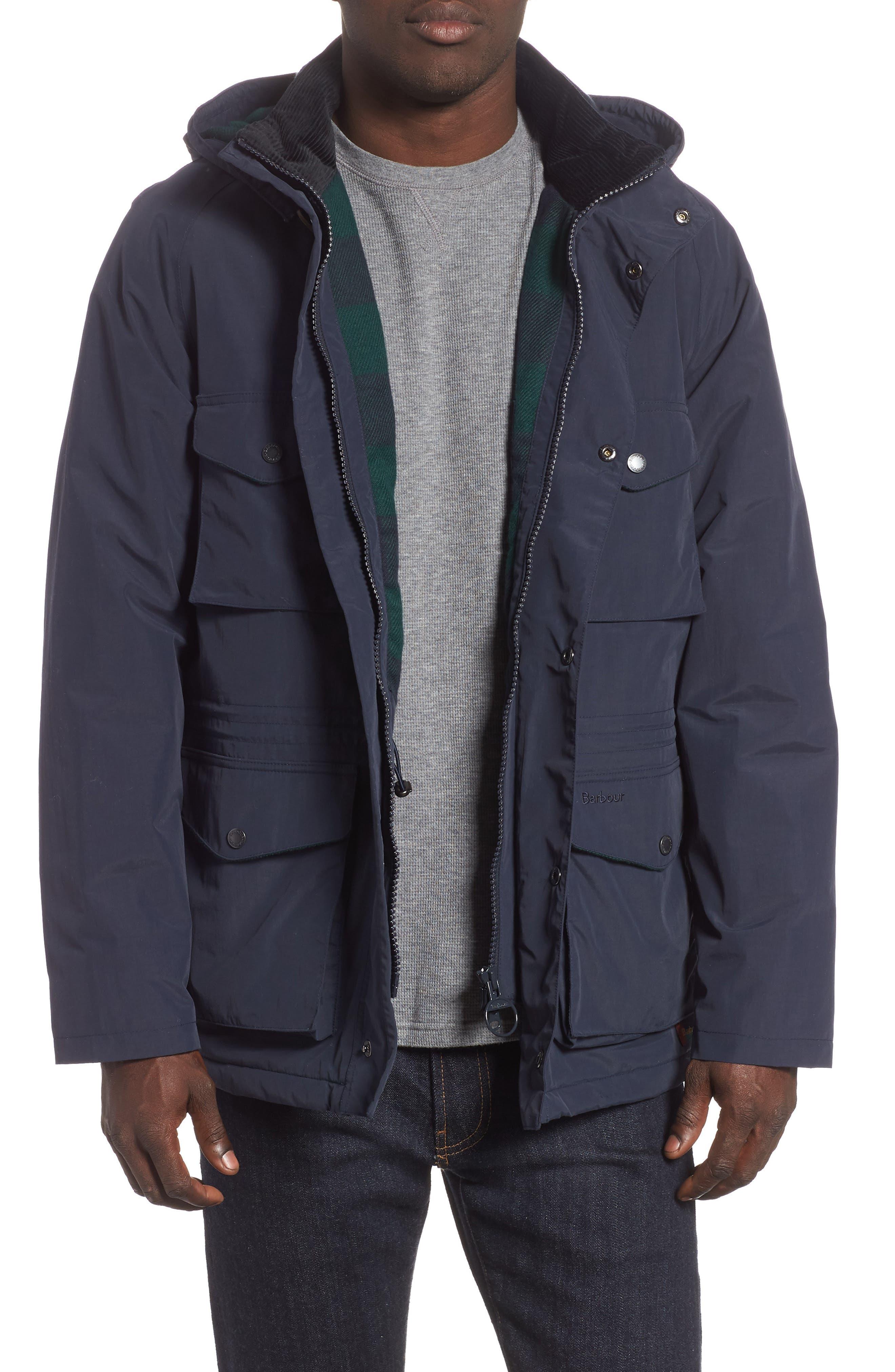 BARBOUR Tiree Waterproof Jacket, Main, color, 410