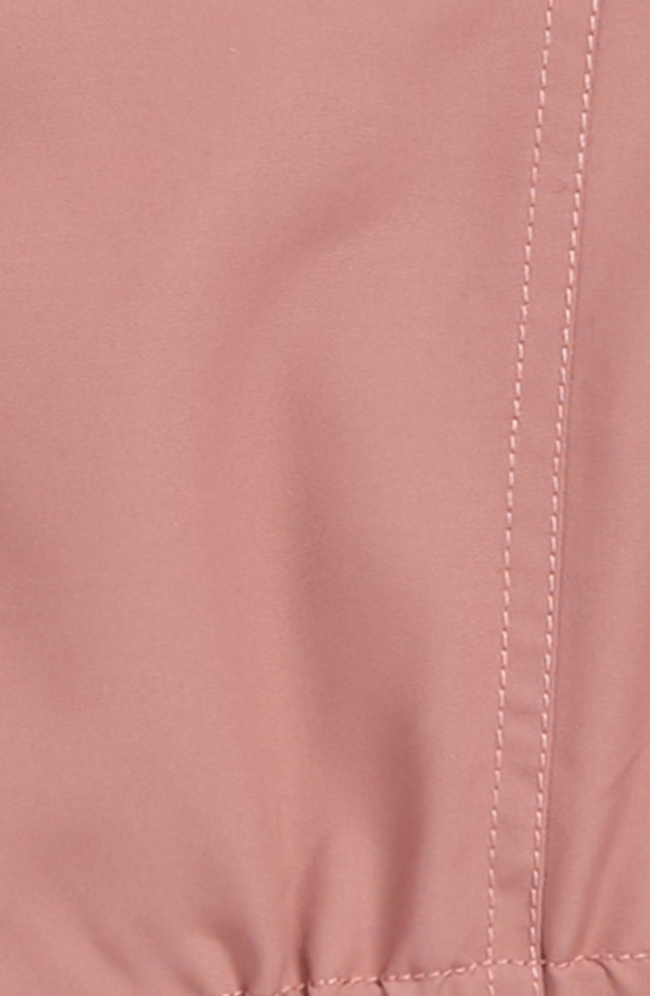 O'NEILL, Windy Water Resistant Hooded Jacket, Alternate thumbnail 2, color, DUSTY MAUVE