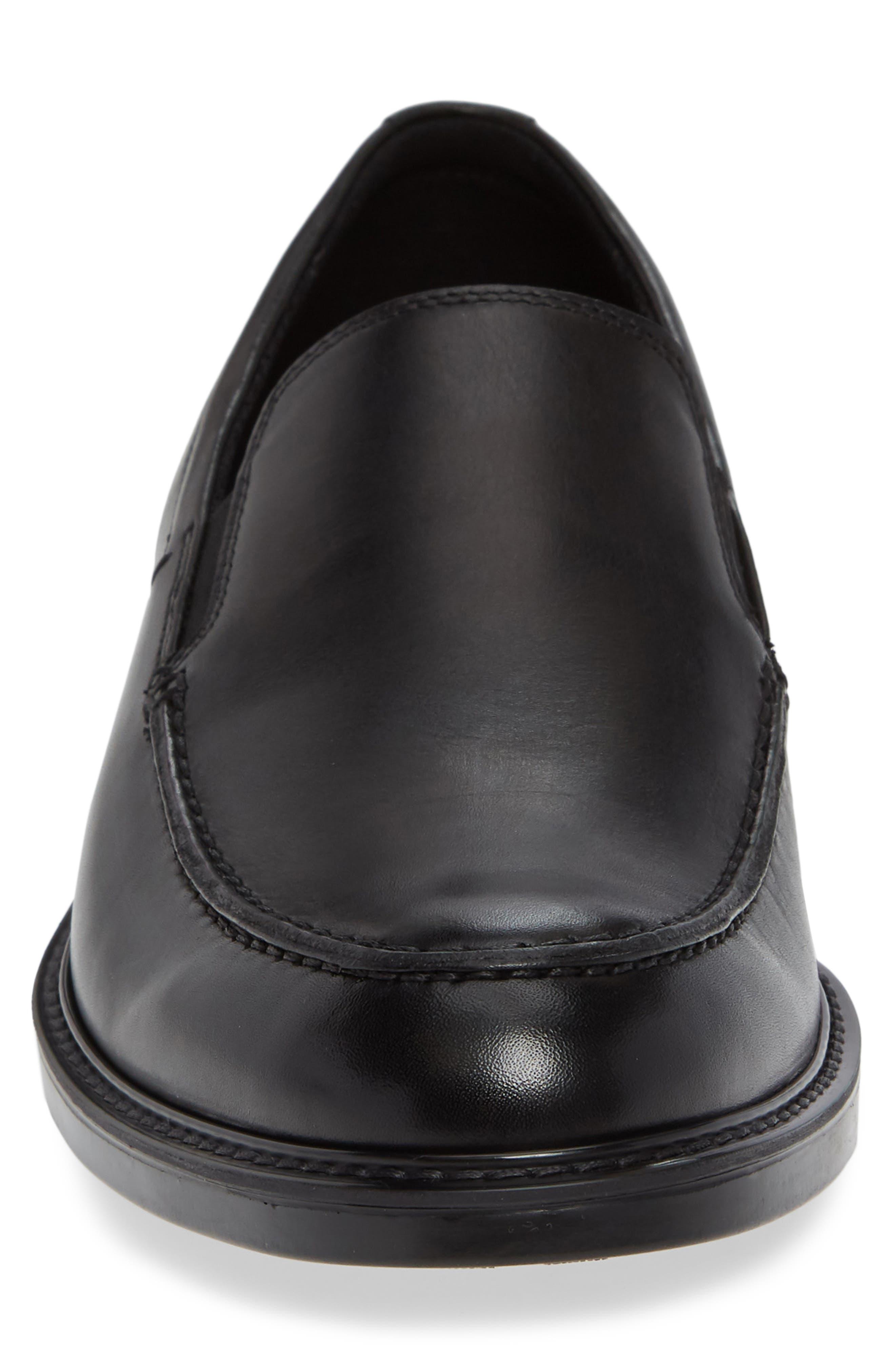 ECCO, Vitrus<sup>™</sup> III Moc Toe Loafer, Alternate thumbnail 4, color, BLACK LEATHER