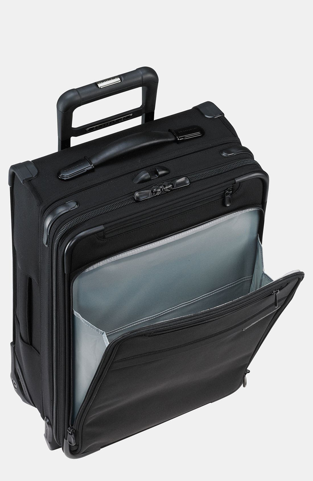 BRIGGS & RILEY, 'Baseline - Commuter' Rolling Carry-On, Main thumbnail 1, color, BLACK