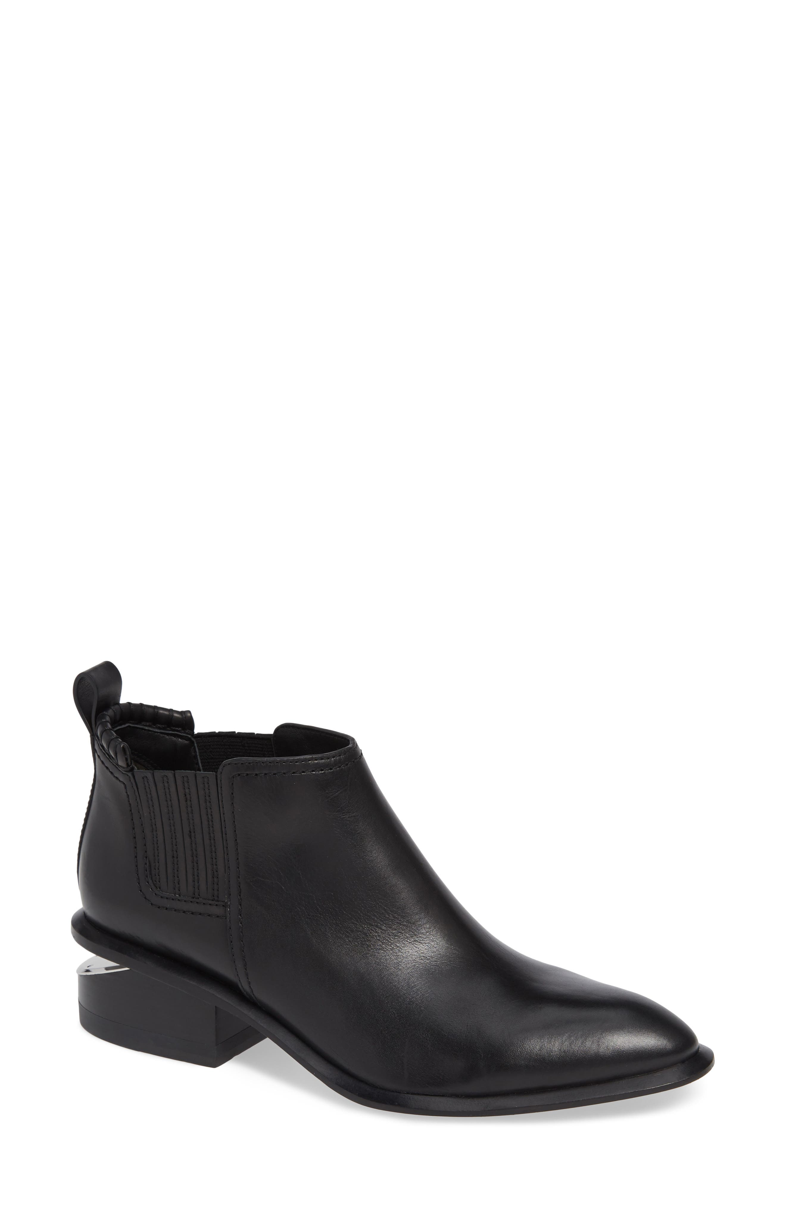 ALEXANDER WANG, Kori Boot, Main thumbnail 1, color, BLACK/ SILVER
