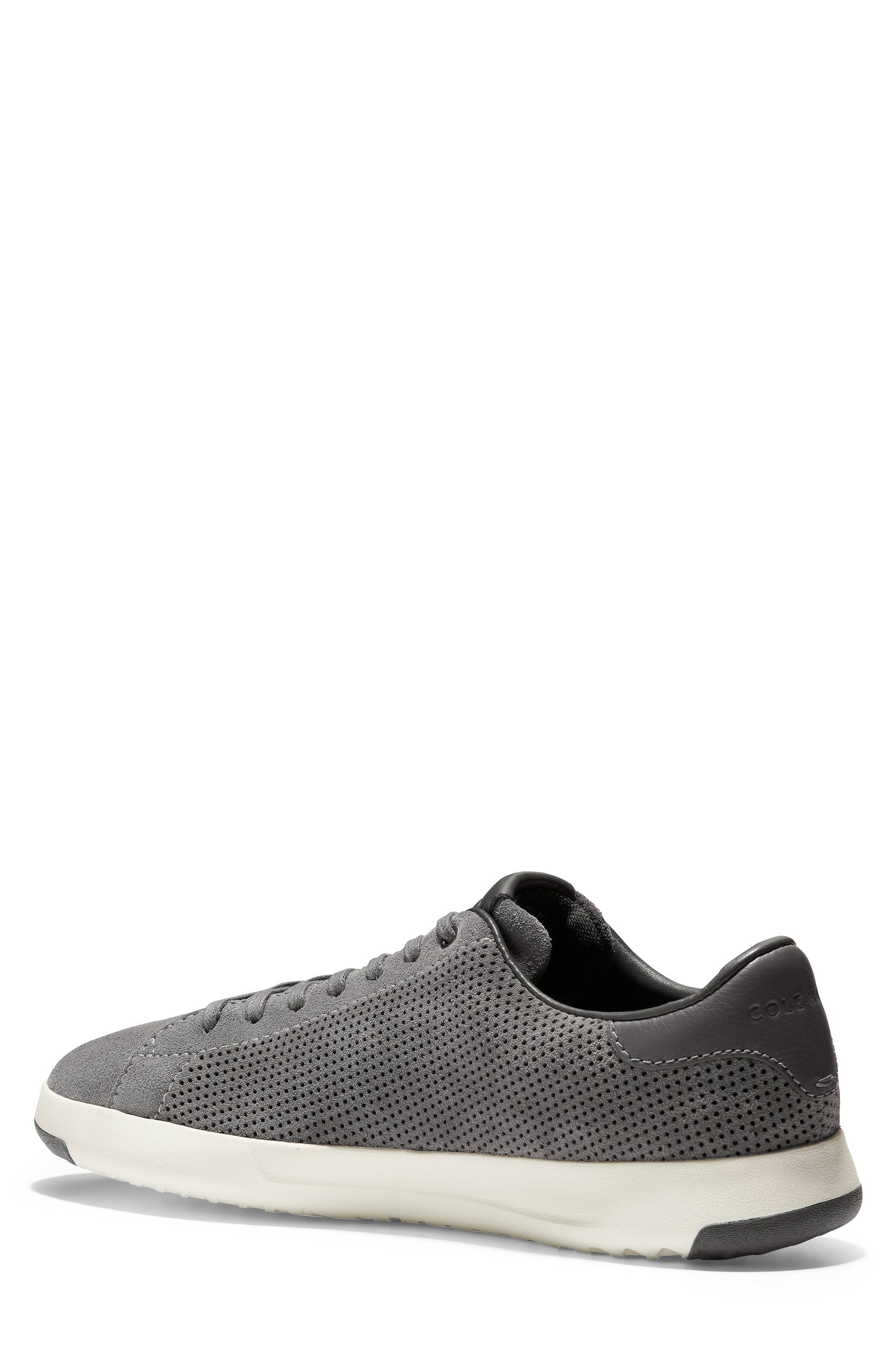 COLE HAAN, GrandPro Tennis Sneaker, Alternate thumbnail 2, color, GREY SUEDE