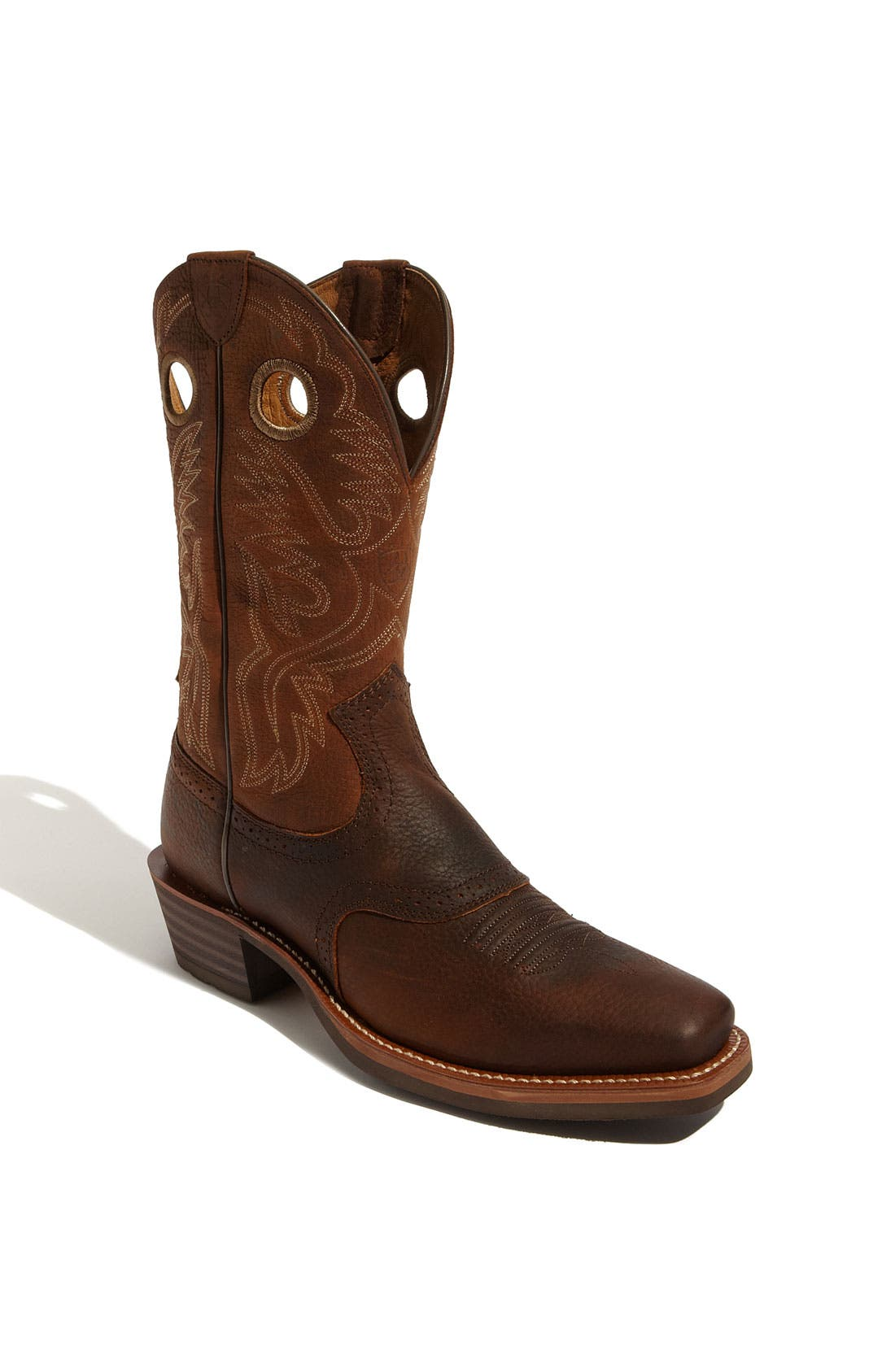 ARIAT, 'Heritage Roughstock' Boot, Main thumbnail 1, color, OILED BROWN