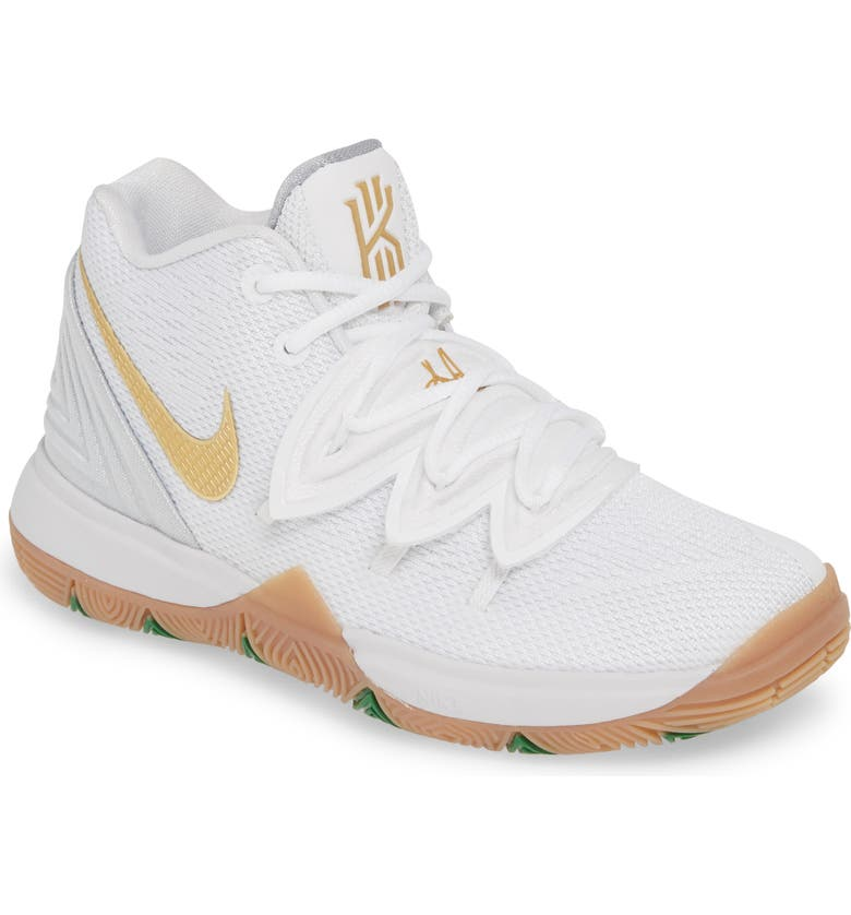 finest selection 30016 acd07 NIKE Kyrie 5 Basketball Shoe, Main, color, WHITE  METALLIC GOLD-PLATINUM
