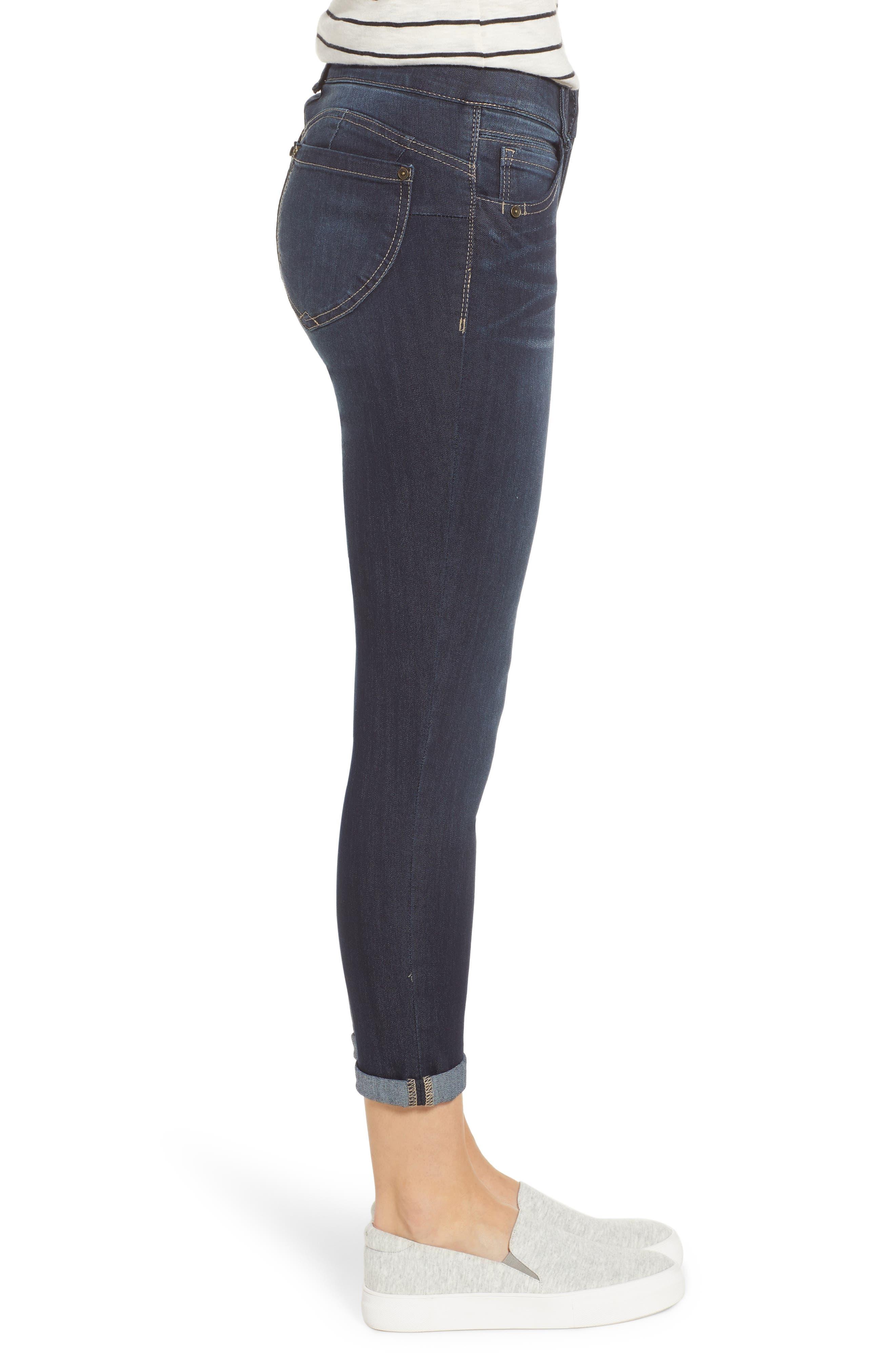 WIT & WISDOM, Ab-Solution Ankle Skimmer Jeans, Alternate thumbnail 4, color, INDIGO