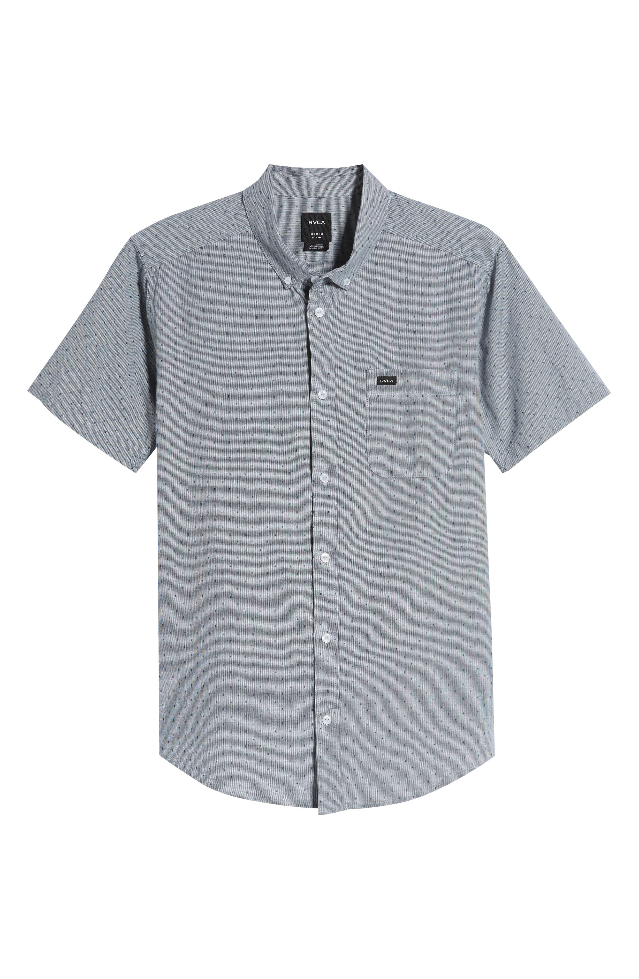 RVCA, That'll Do Dobby Short Sleeve Sport Shirt, Alternate thumbnail 5, color, SEATTLE BLUE