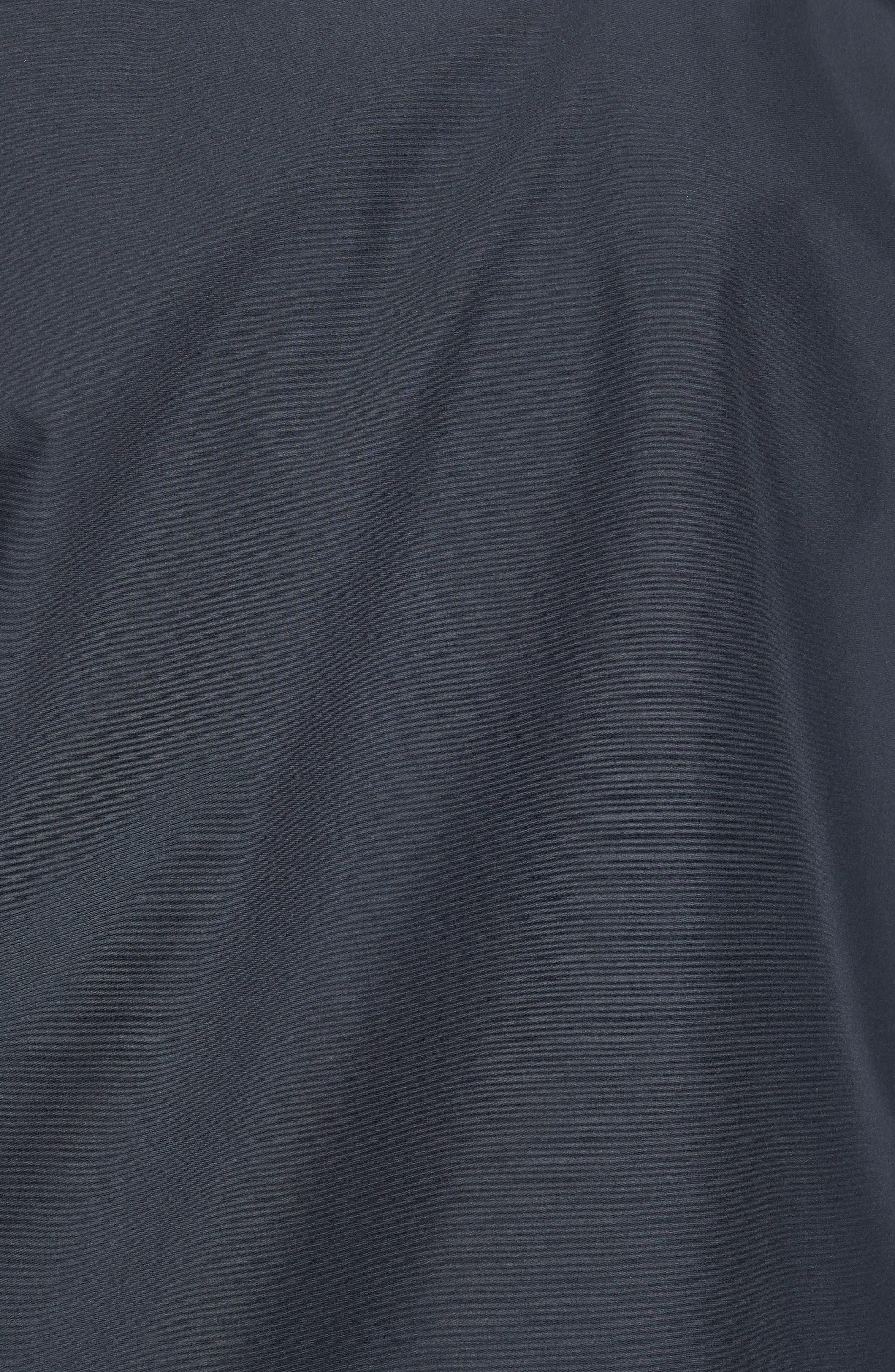 HELMUT LANG, Stadium Coach's Jacket, Alternate thumbnail 6, color, BLACK
