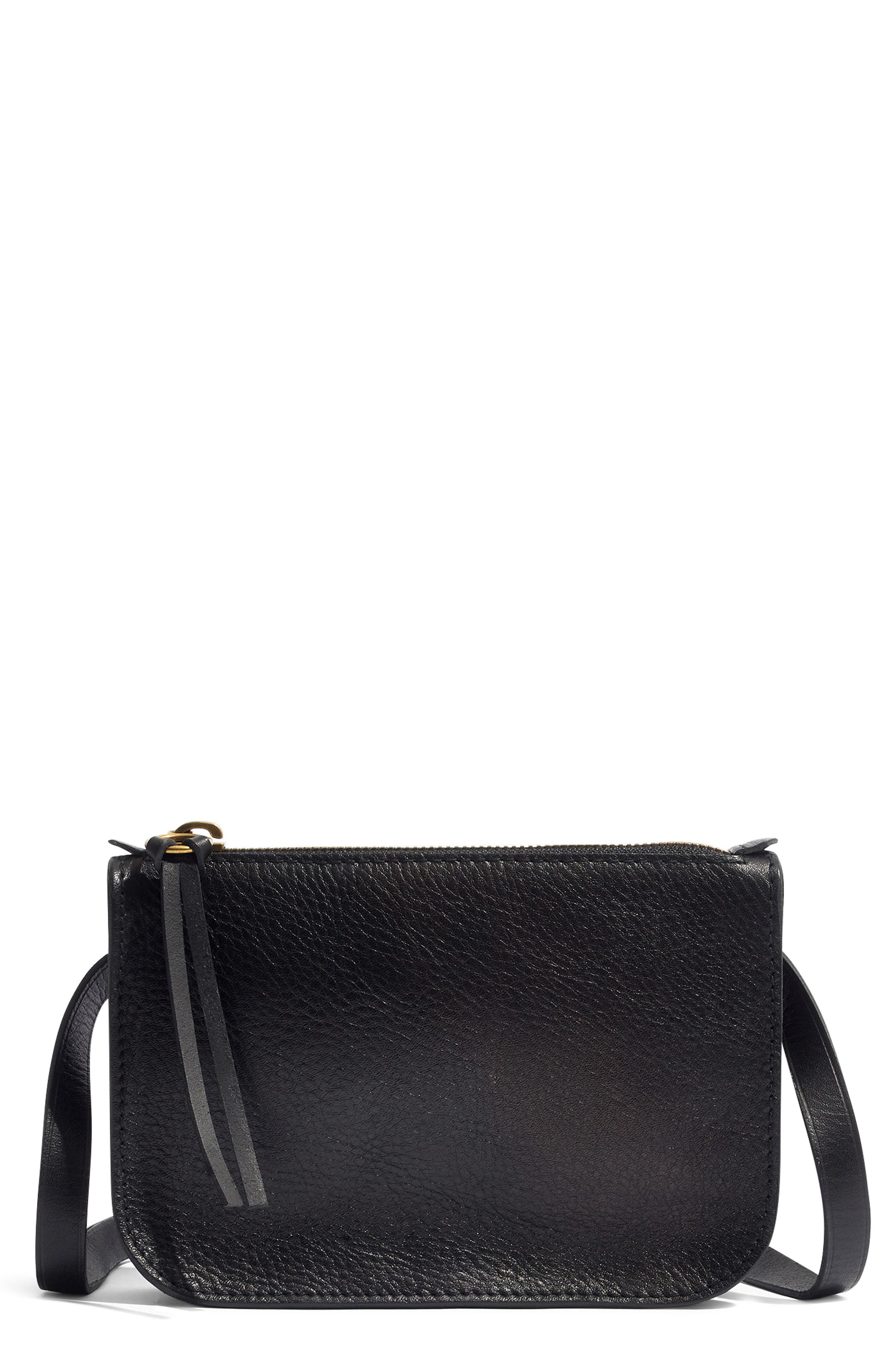 MADEWELL, The Simple Pouch Belt Bag, Main thumbnail 1, color, TRUE BLACK