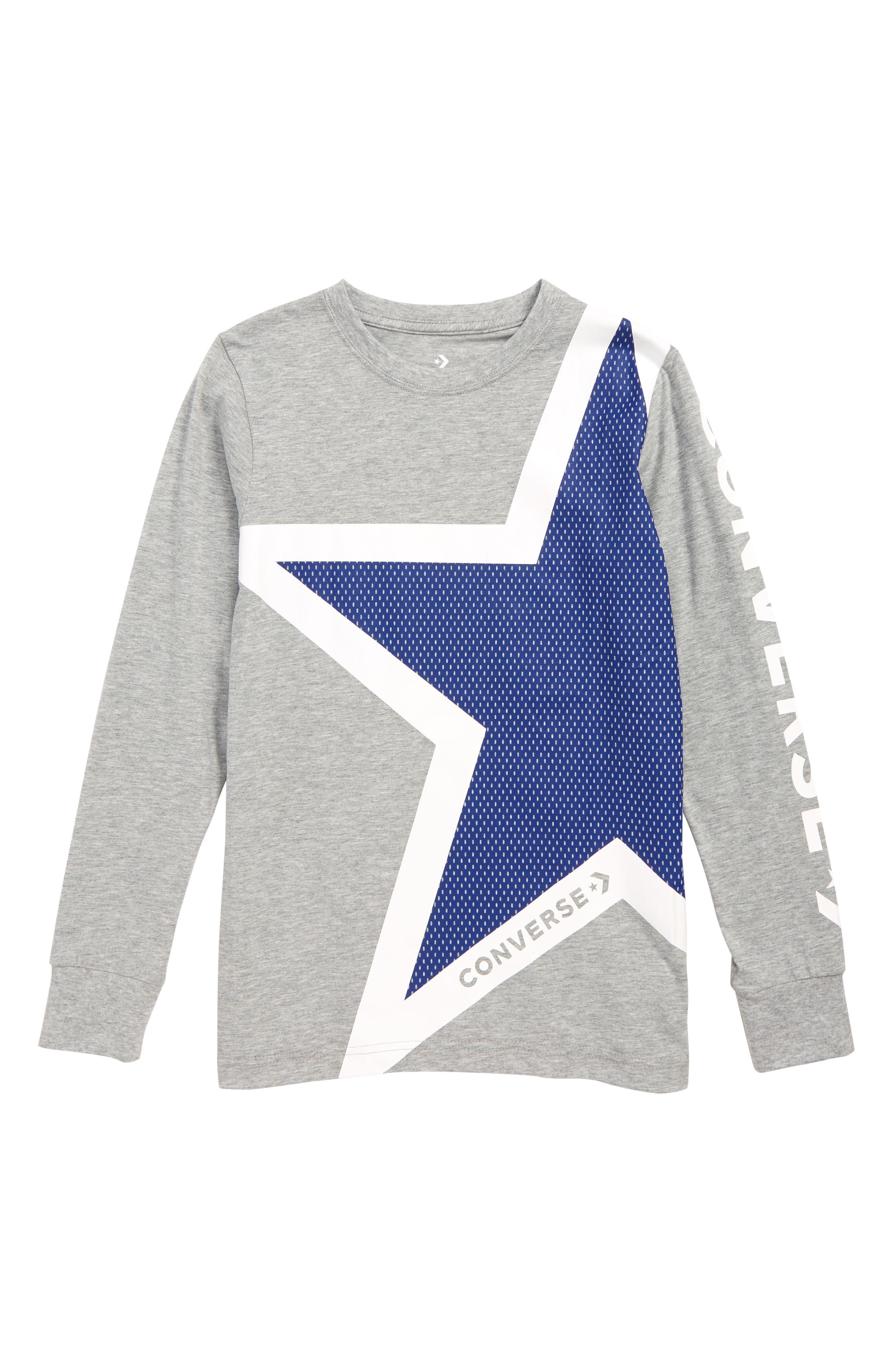 CONVERSE One Star T-Shirt, Main, color, DARK GREY HEATHER