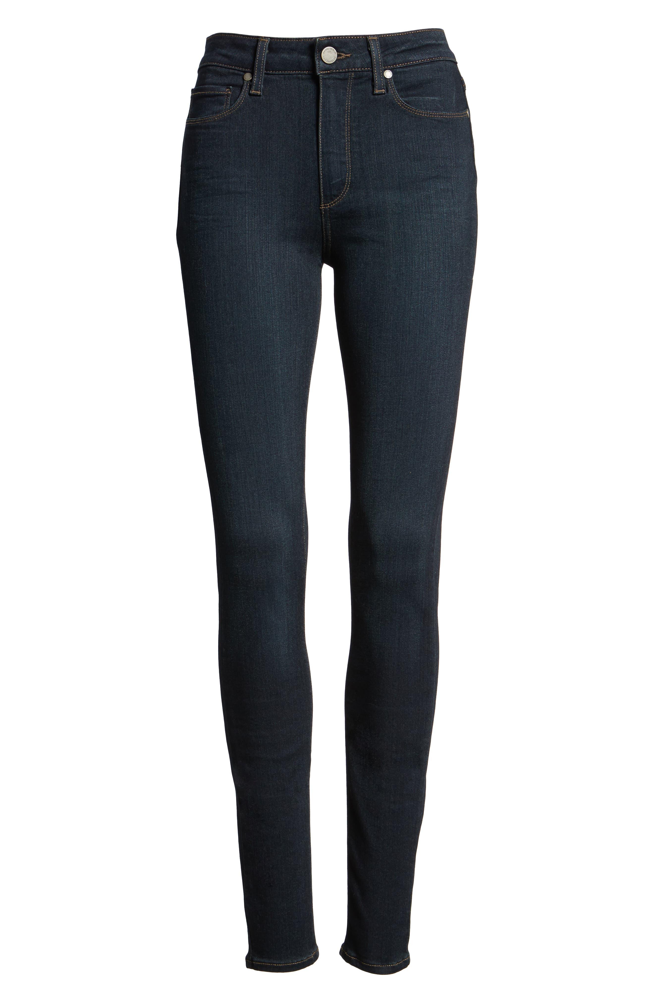 PAIGE, Transcend - Hoxton High Waist Ultra Skinny Jeans, Alternate thumbnail 4, color, MONA