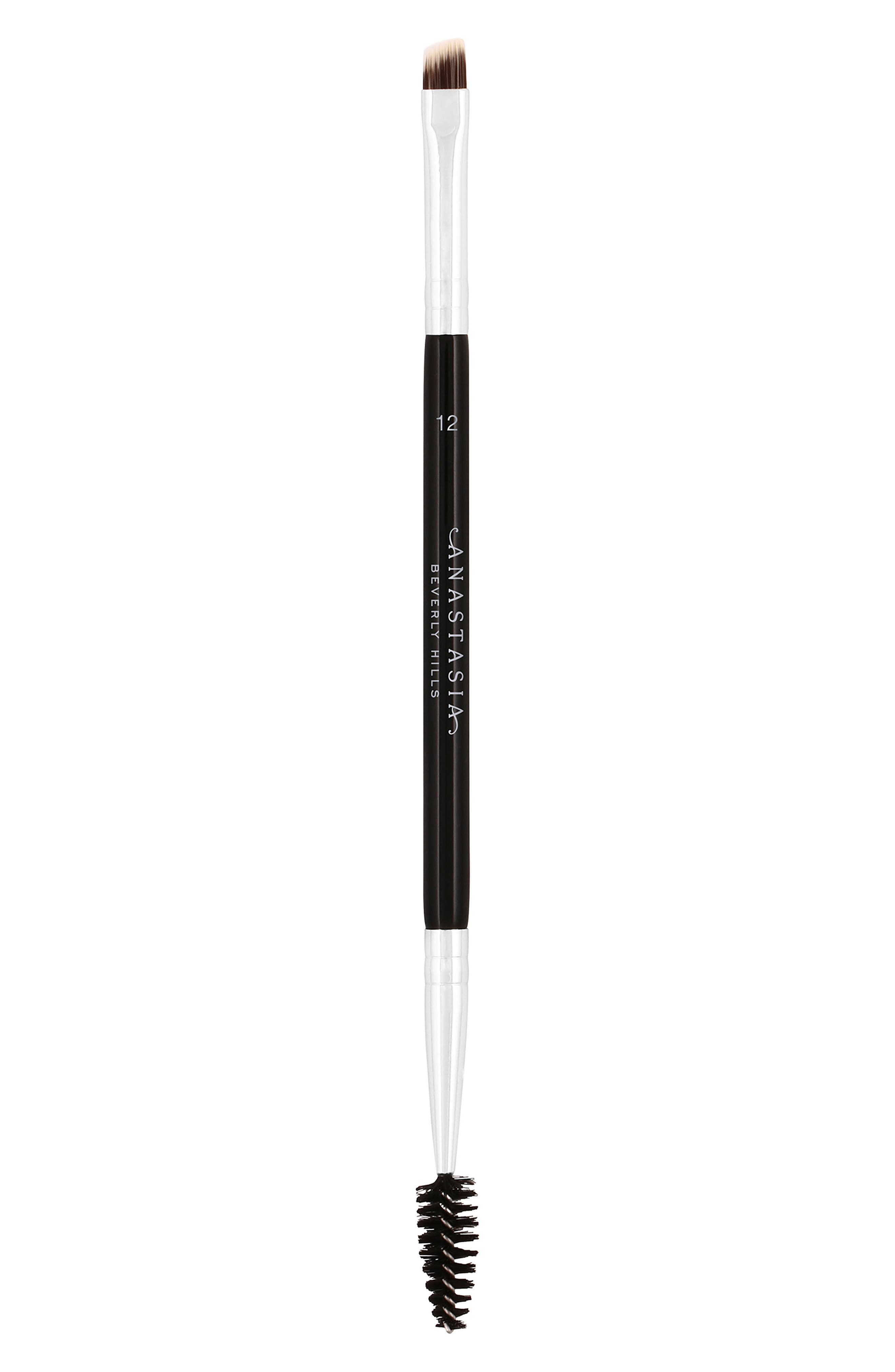 ANASTASIA BEVERLY HILLS, #12 Large Synthetic Duo Brow Brush, Main thumbnail 1, color, NO COLOR