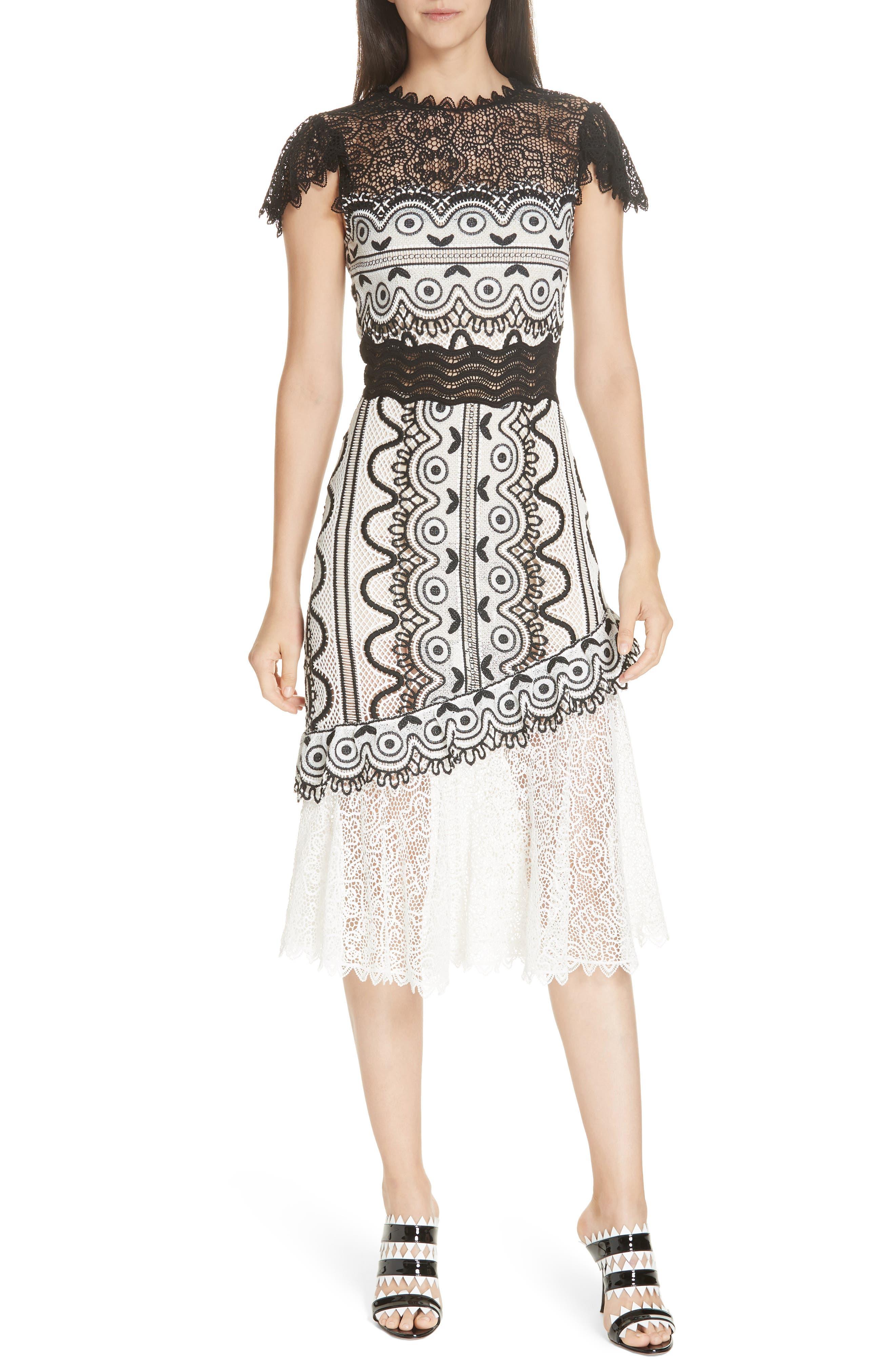 Sea Lola Lace Midi Dress, Black