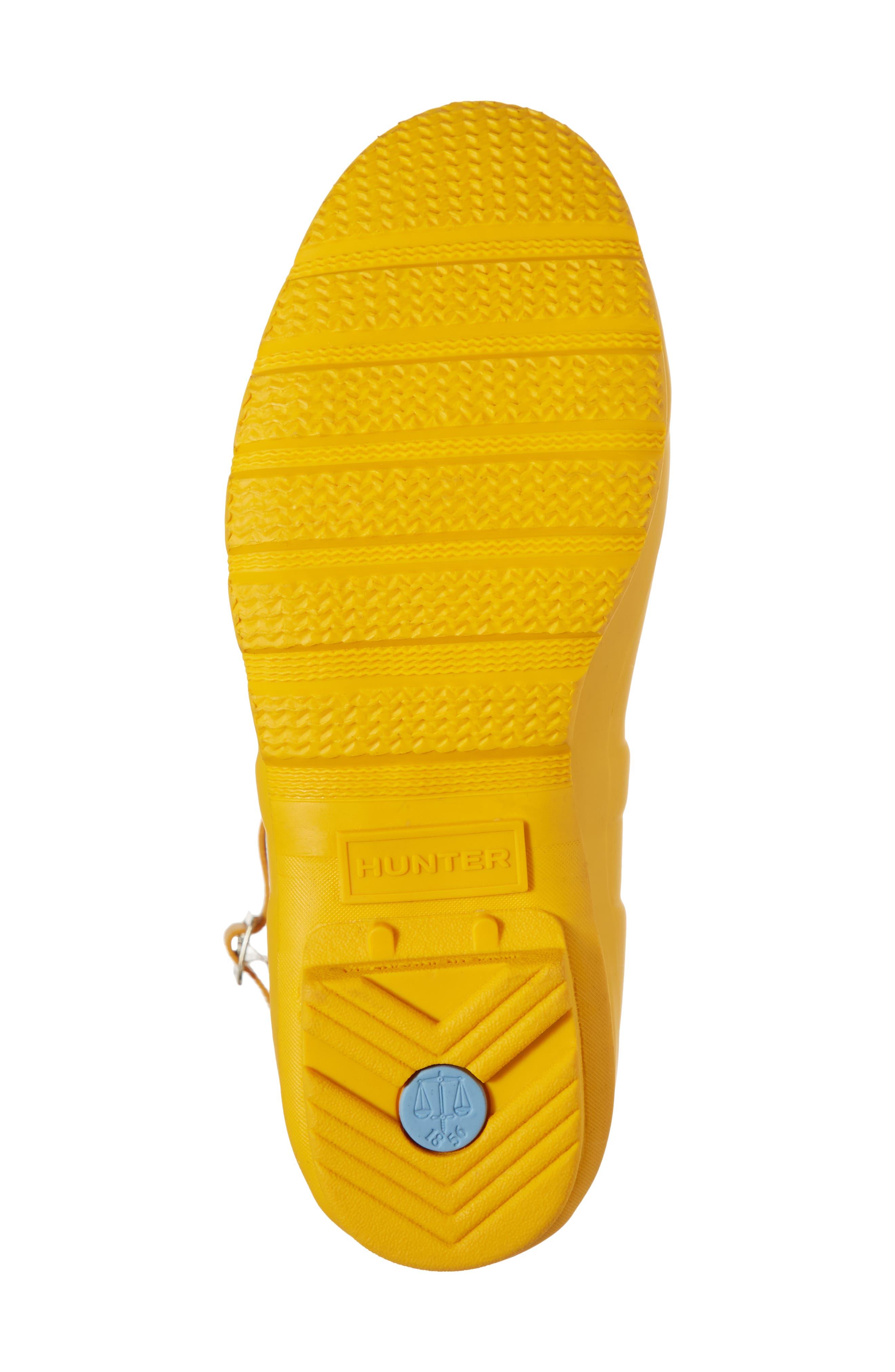 HUNTER, Original Short Waterproof Rain Boot, Alternate thumbnail 6, color, YELLOW/ YELLOW