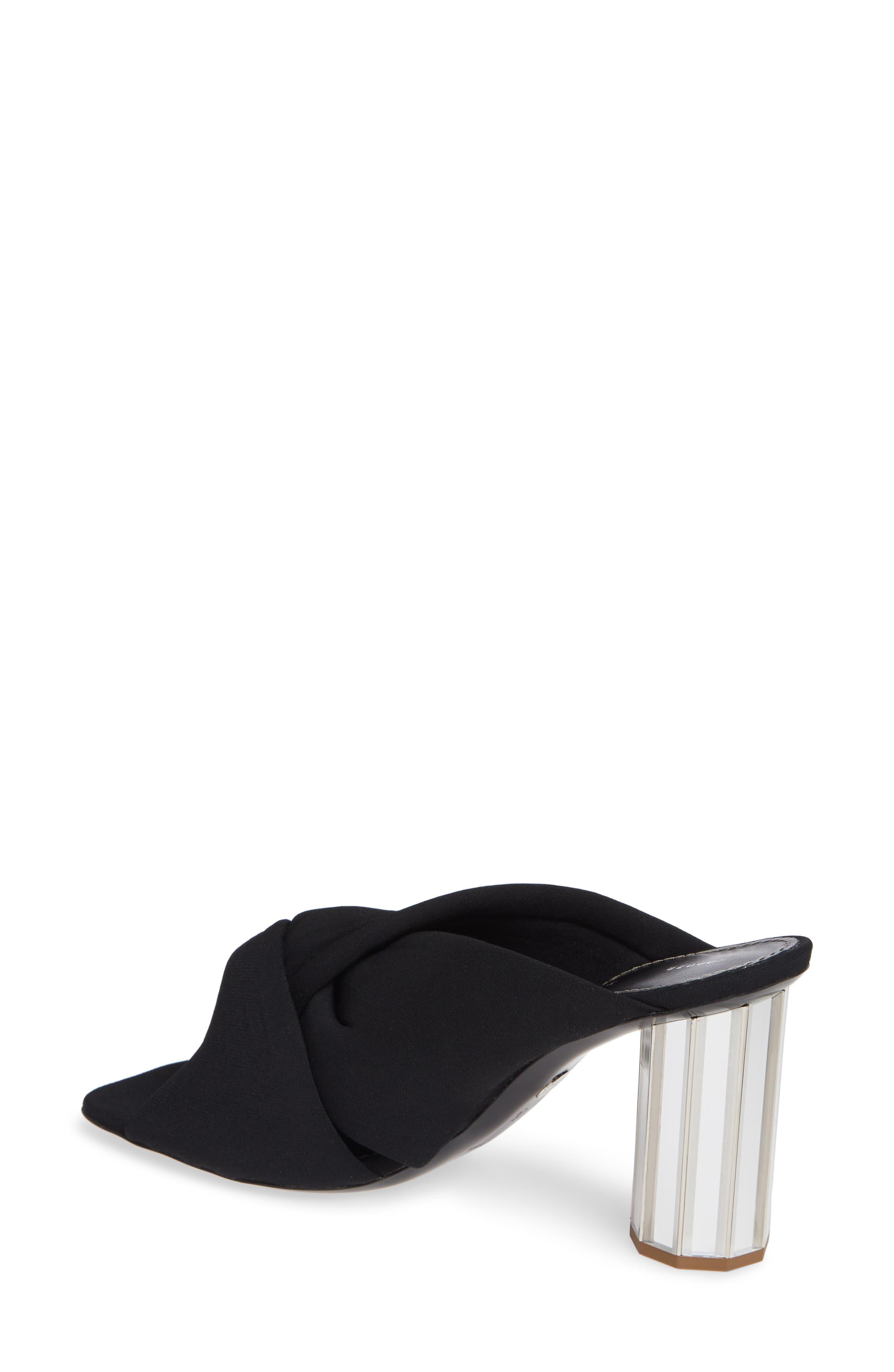 PROENZA SCHOULER, Knotted Slide Sandal, Alternate thumbnail 2, color, BLACK