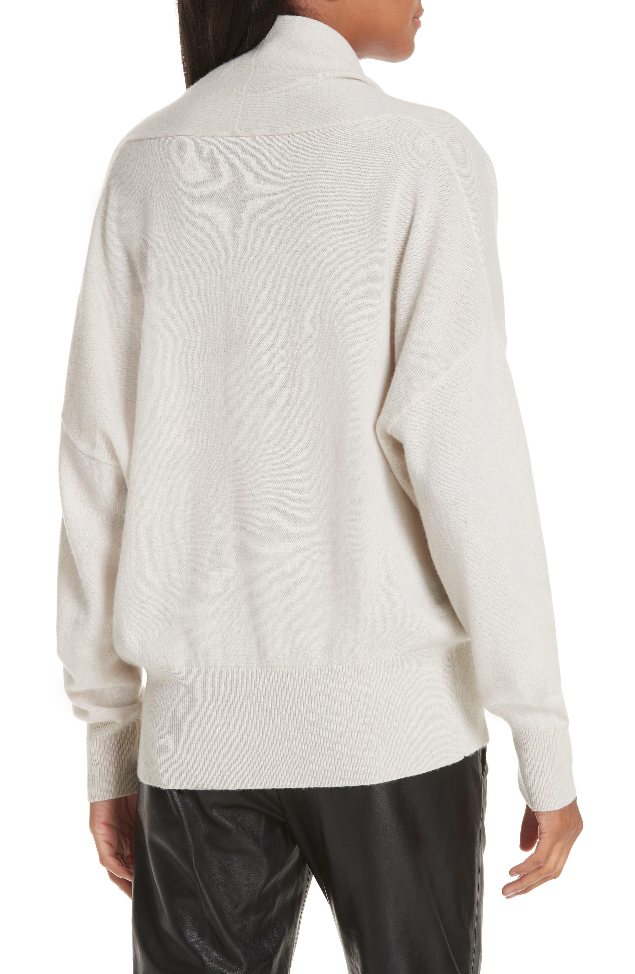 NILI LOTAN, Lakota Cashmere Surplice Sweater, Alternate thumbnail 2, color, 900