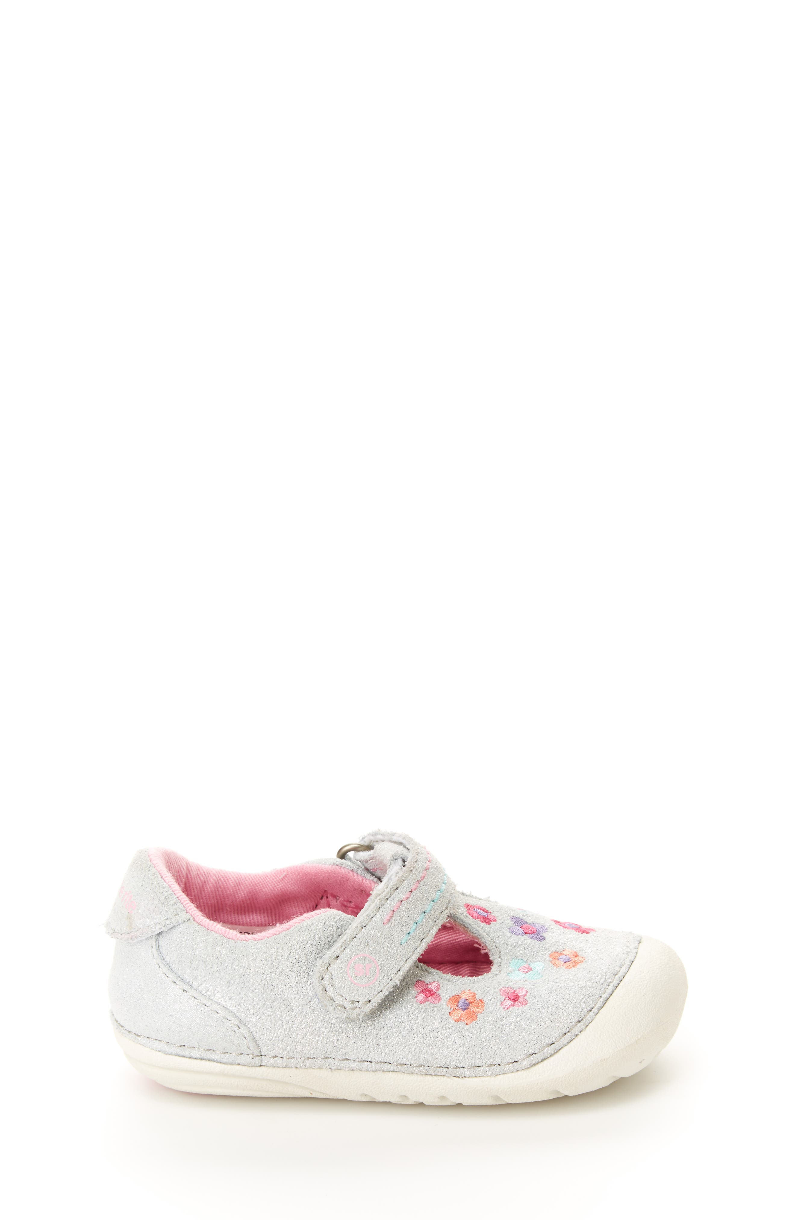 STRIDE RITE, Soft Motion<sup>™</sup> Tonia T-Strap Mary Jane, Alternate thumbnail 2, color, SILVER