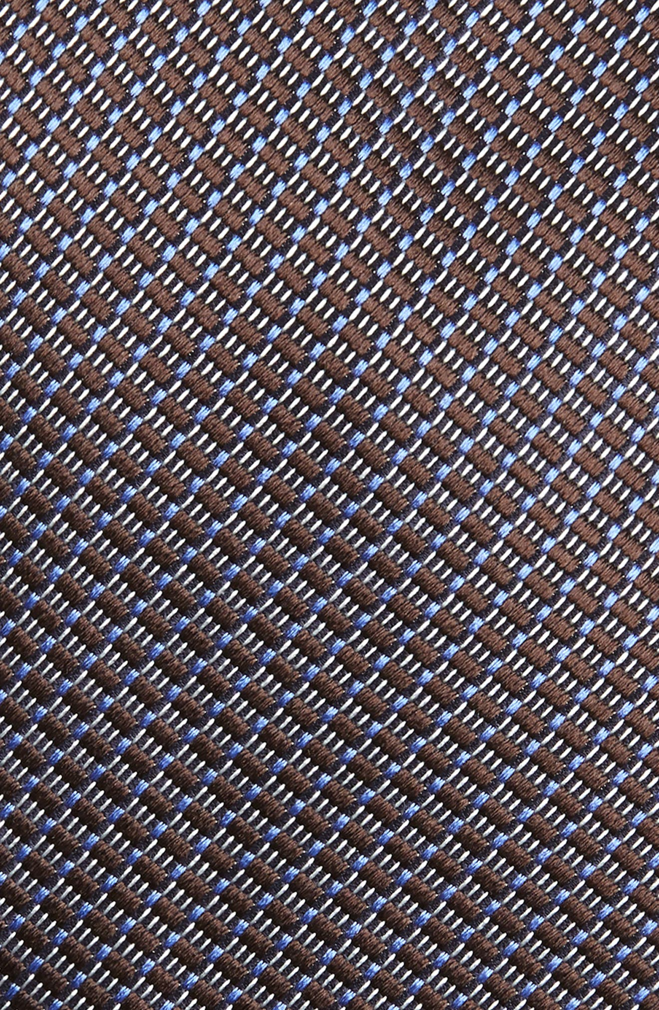 ERMENEGILDO ZEGNA, Geometric Silk Tie, Alternate thumbnail 2, color, NAVY