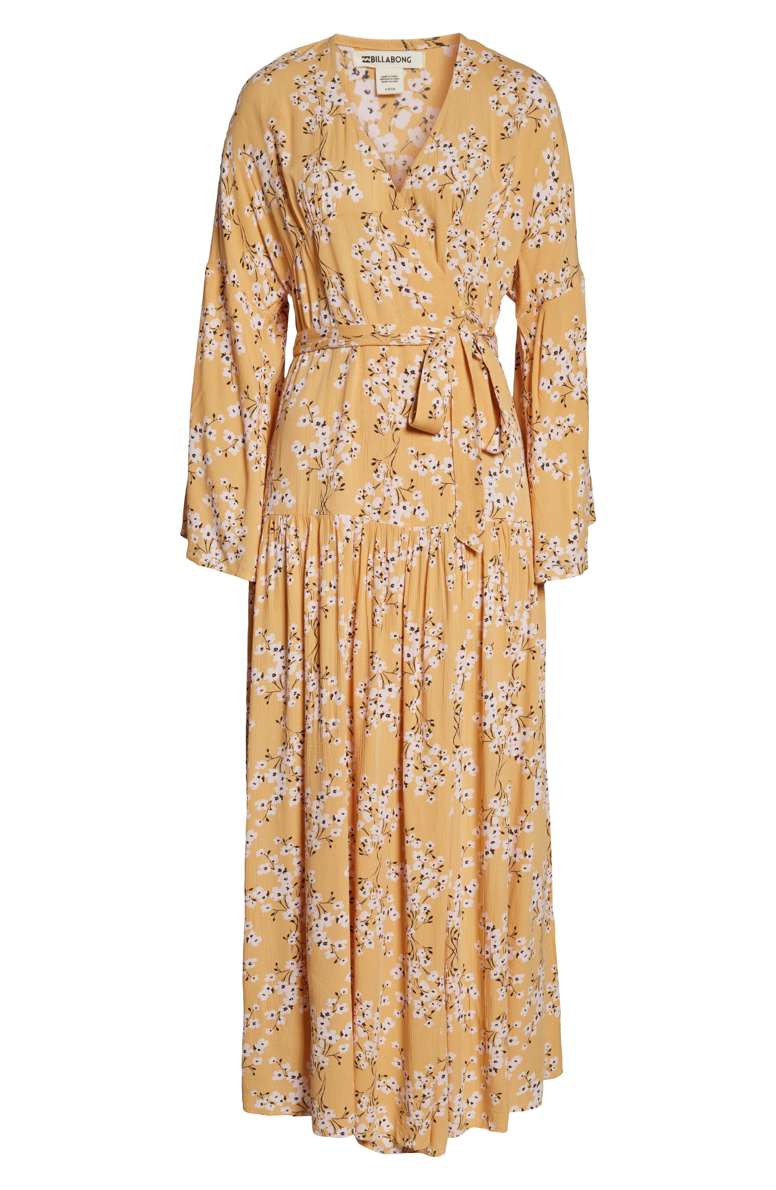 BILLABONG, My Favorite Maxi Dress, Alternate thumbnail 4, color, GOLDEN HOUR