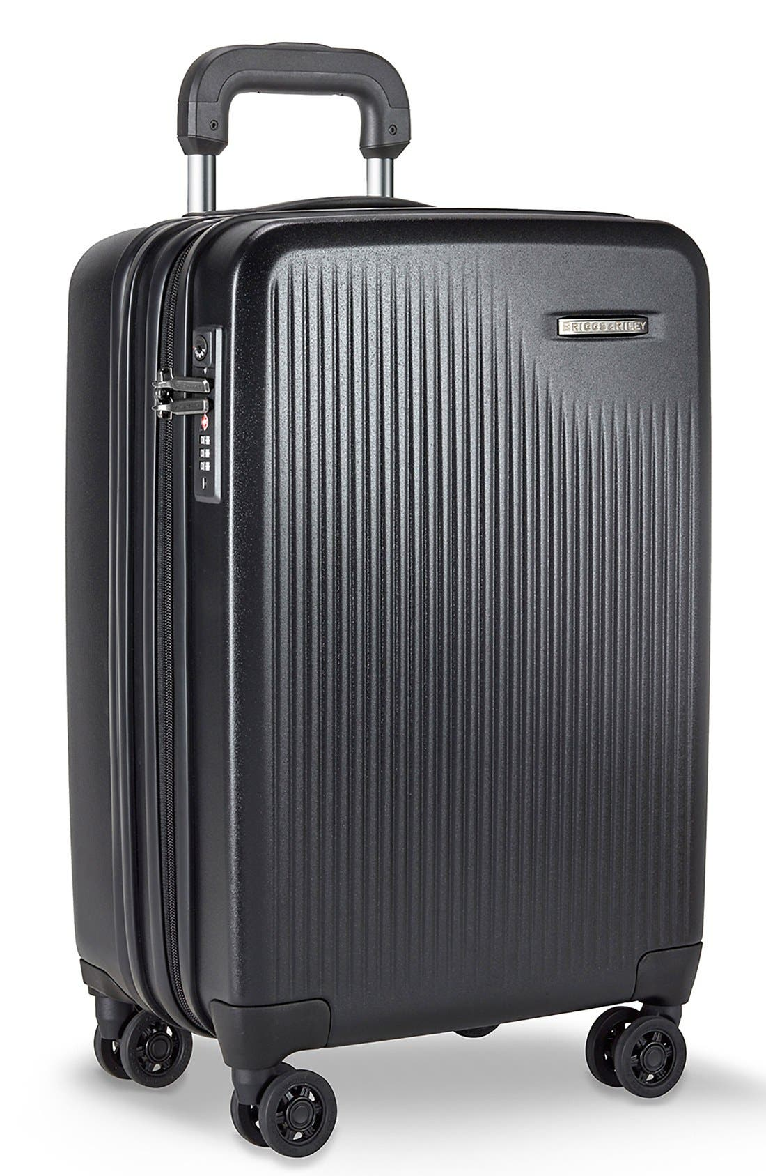 BRIGGS & RILEY, 'Sympatico' Expandable Wheeled Carry-On, Alternate thumbnail 2, color, BLACK