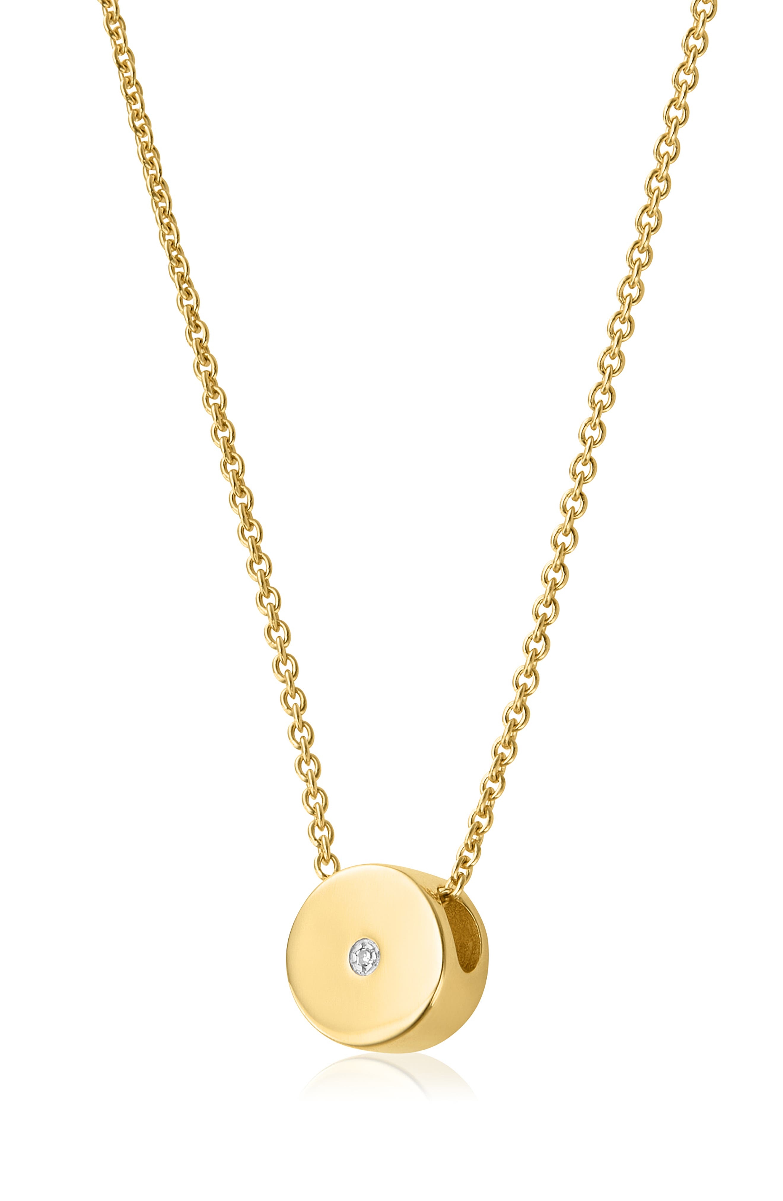 MONICA VINADER, Linear Solo Diamond Pendant Necklace, Alternate thumbnail 3, color, GOLD/ DIAMOND