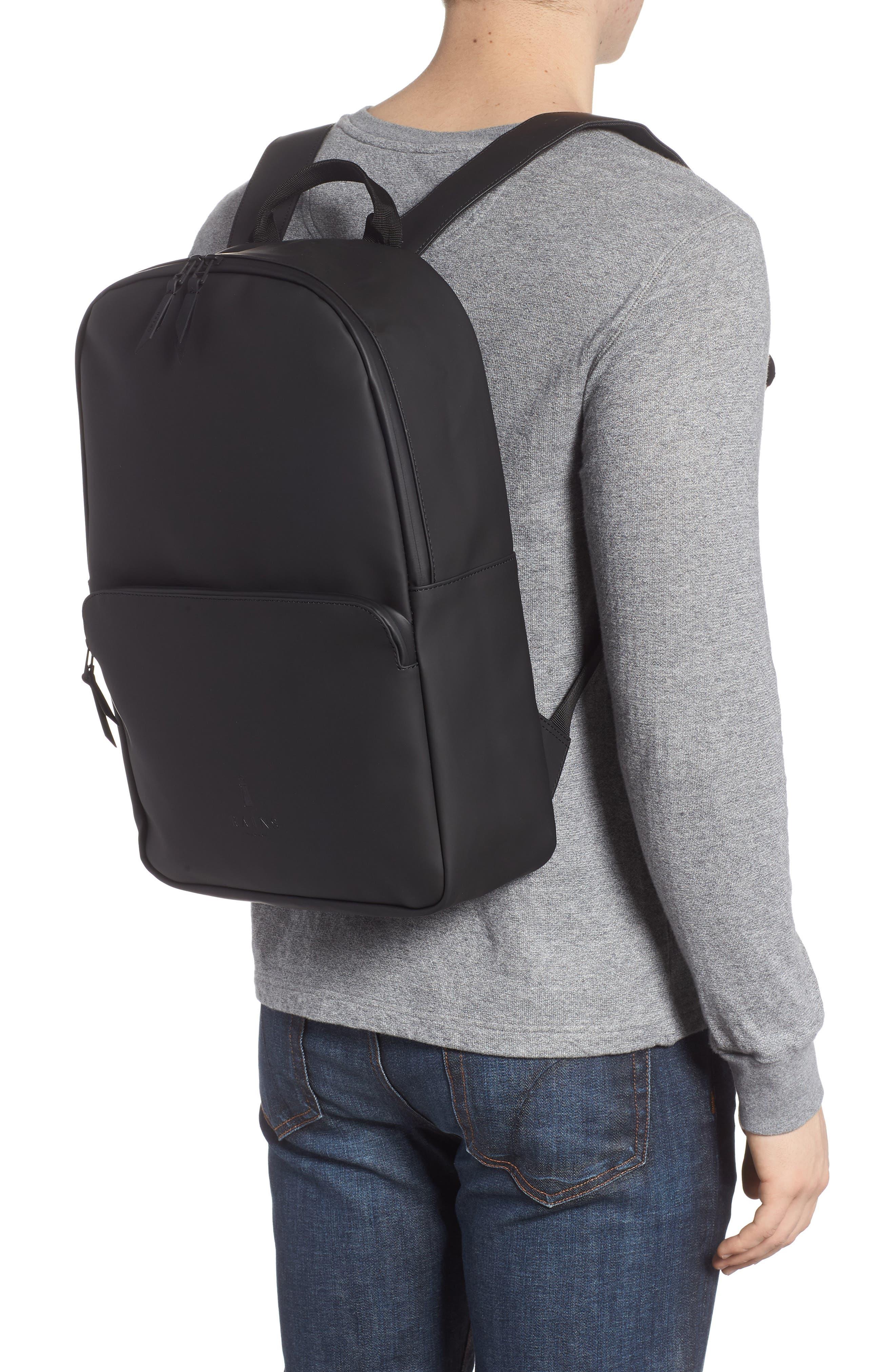 RAINS, Field Backpack, Alternate thumbnail 2, color, BLACK