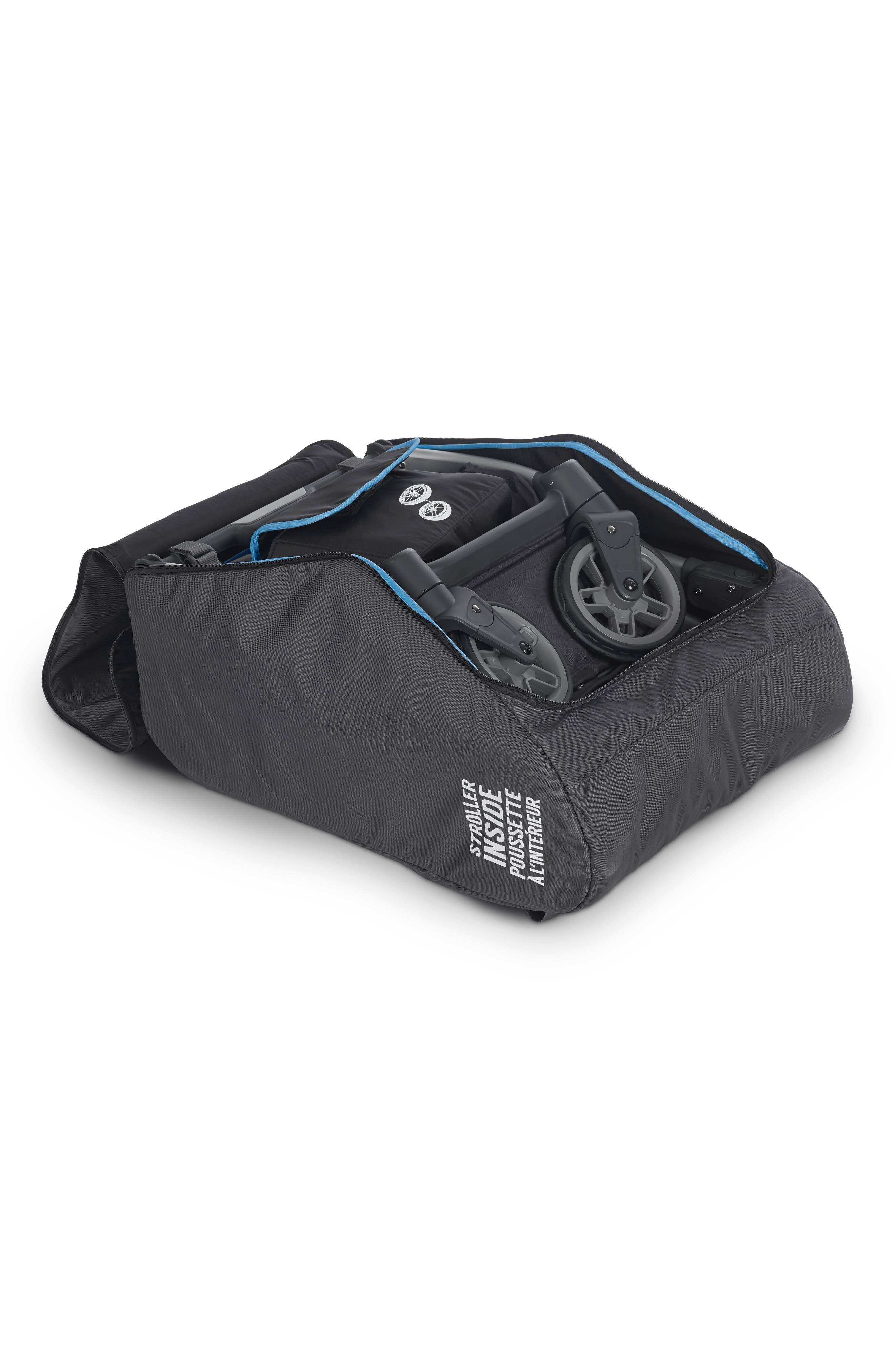 UPPABABY, TravelSafe Travel Bag for UPPAbaby Minu Stroller, Alternate thumbnail 2, color, BLACK
