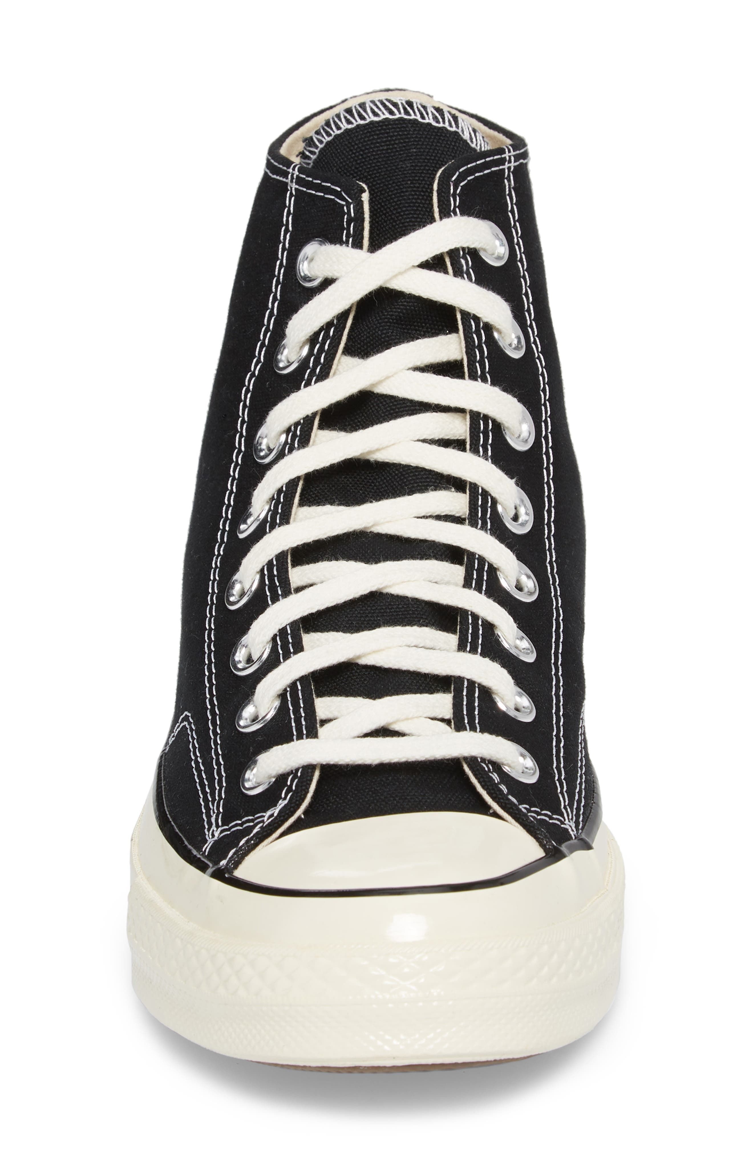 CONVERSE, Chuck Taylor<sup>®</sup> All Star<sup>®</sup> 70 High Top Sneaker, Alternate thumbnail 4, color, BLACK
